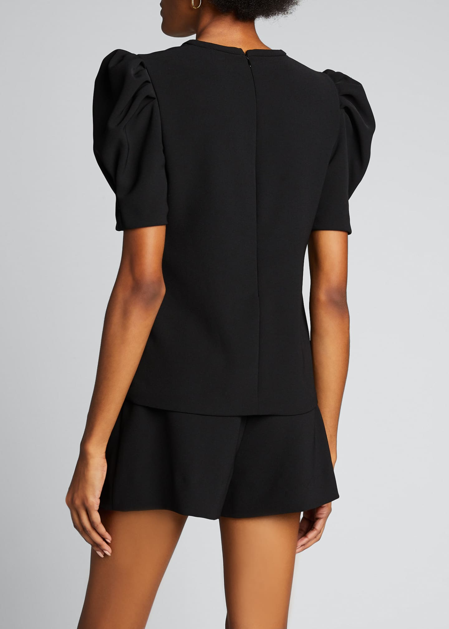 Image 2 of 5: West Puff-Sleeve Crepe Top