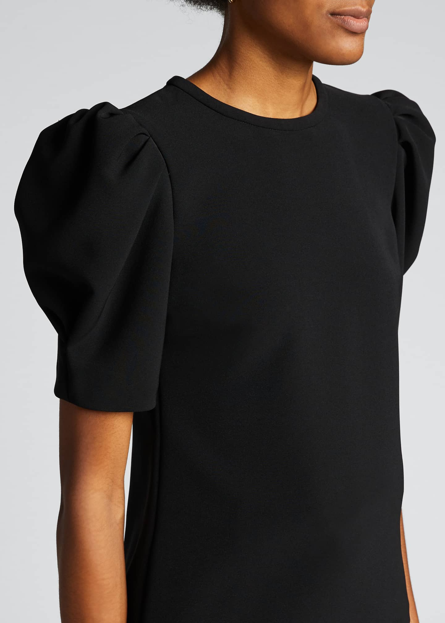 Image 4 of 5: West Puff-Sleeve Crepe Top