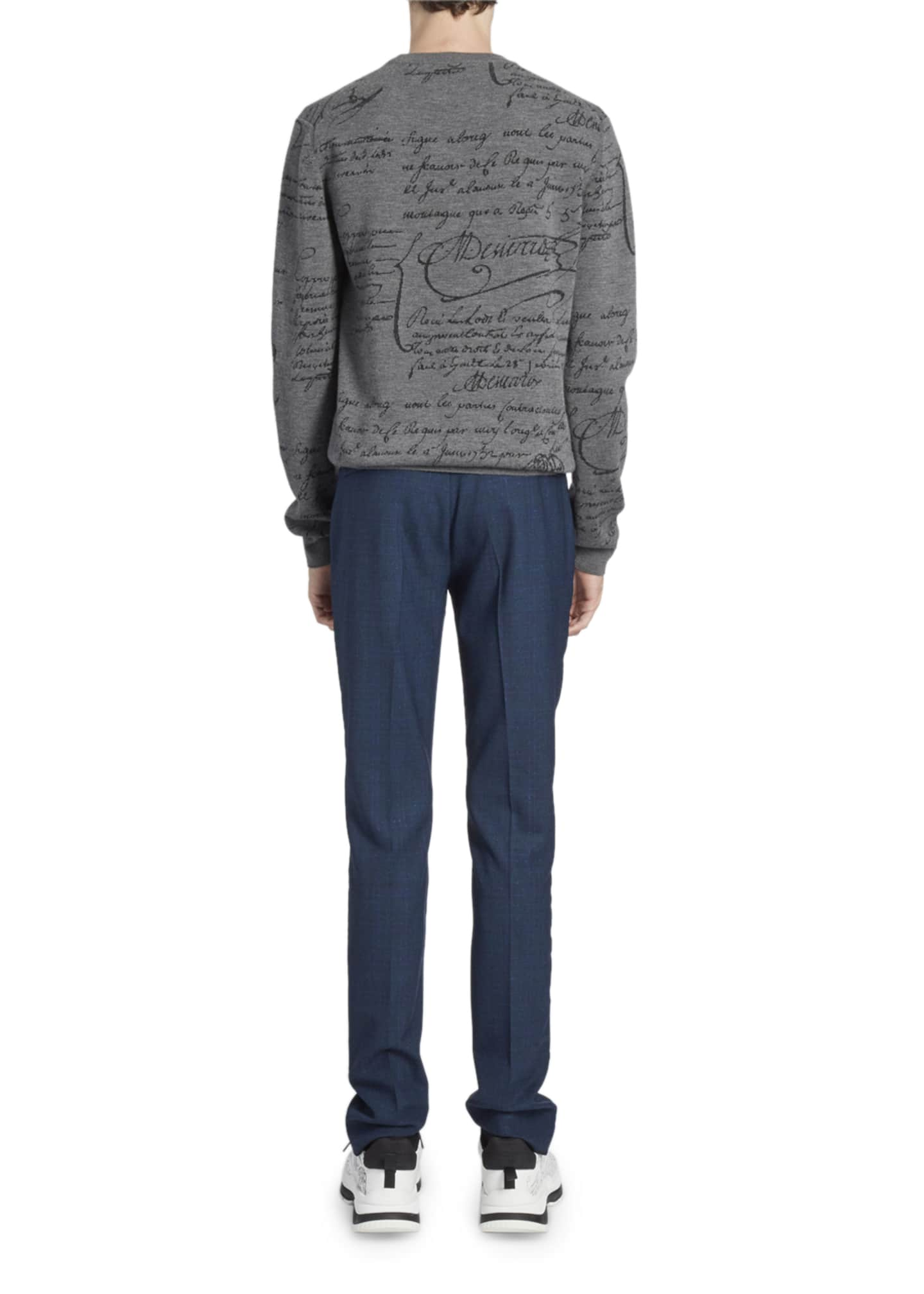 Image 2 of 2: Men's Scritto Crewneck Wool Sweatshirt