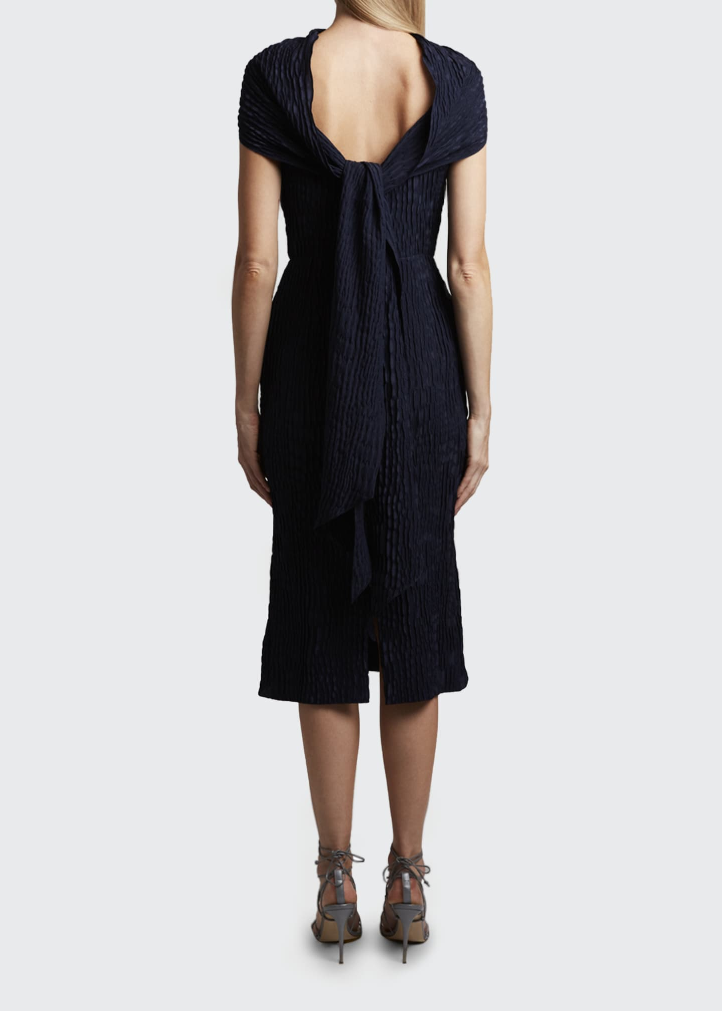 Image 2 of 3: Belem Dress Silk Jacquard High Neck Dress