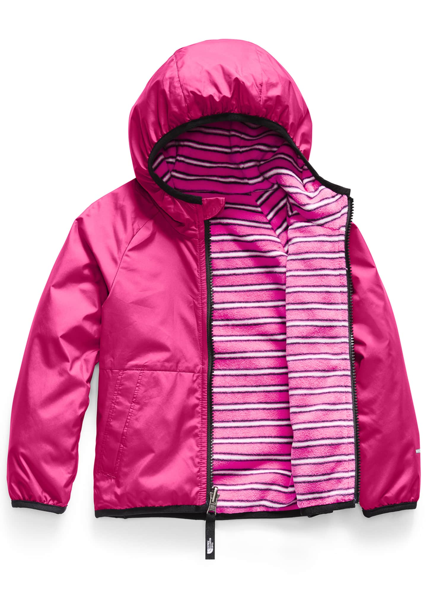 Image 2 of 3: Girl's Breezeway Reversible Wind Jacket, Size 2-4T