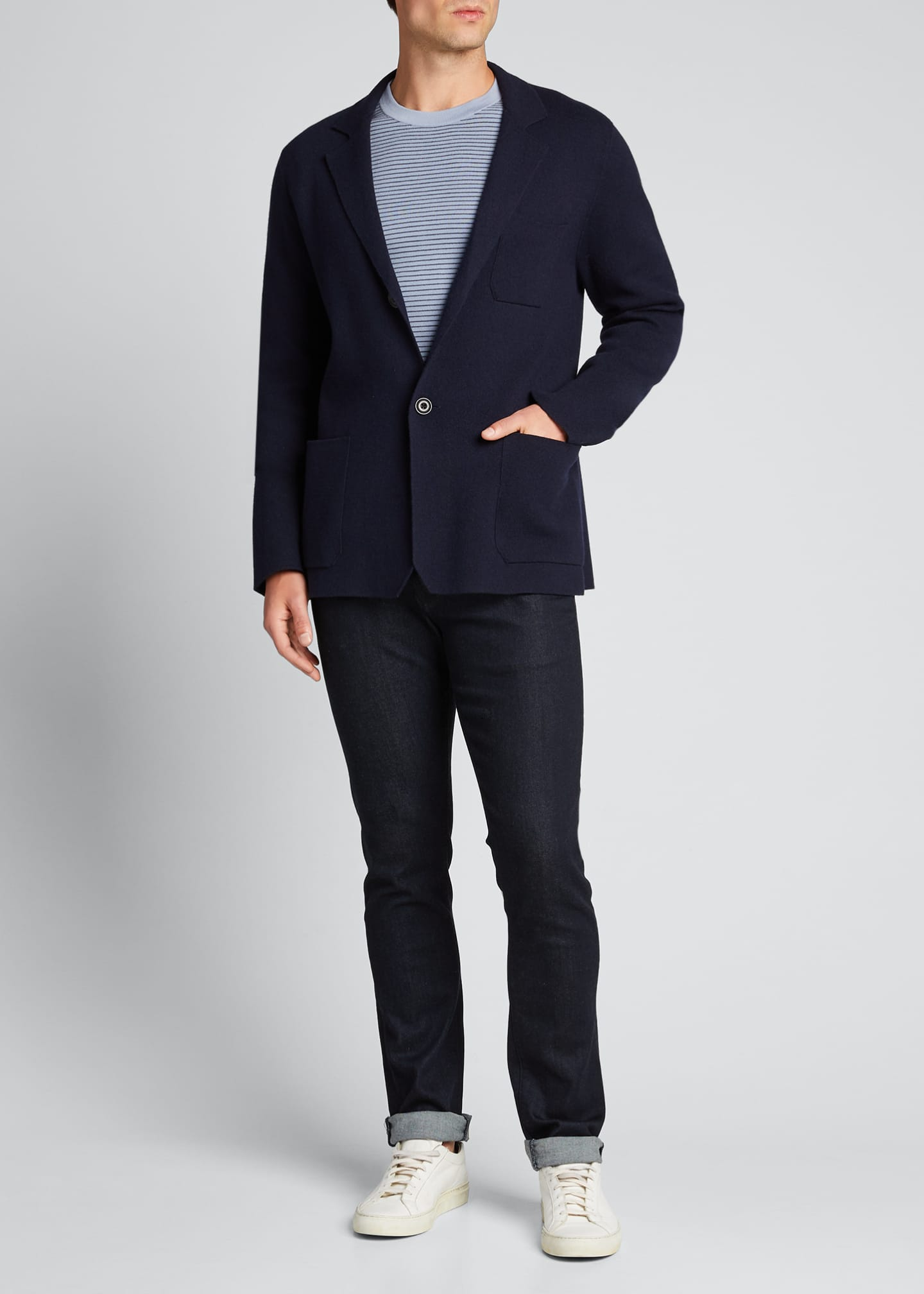 Vince Men's Solid Patch-Pocket Wool-Blend Jacket