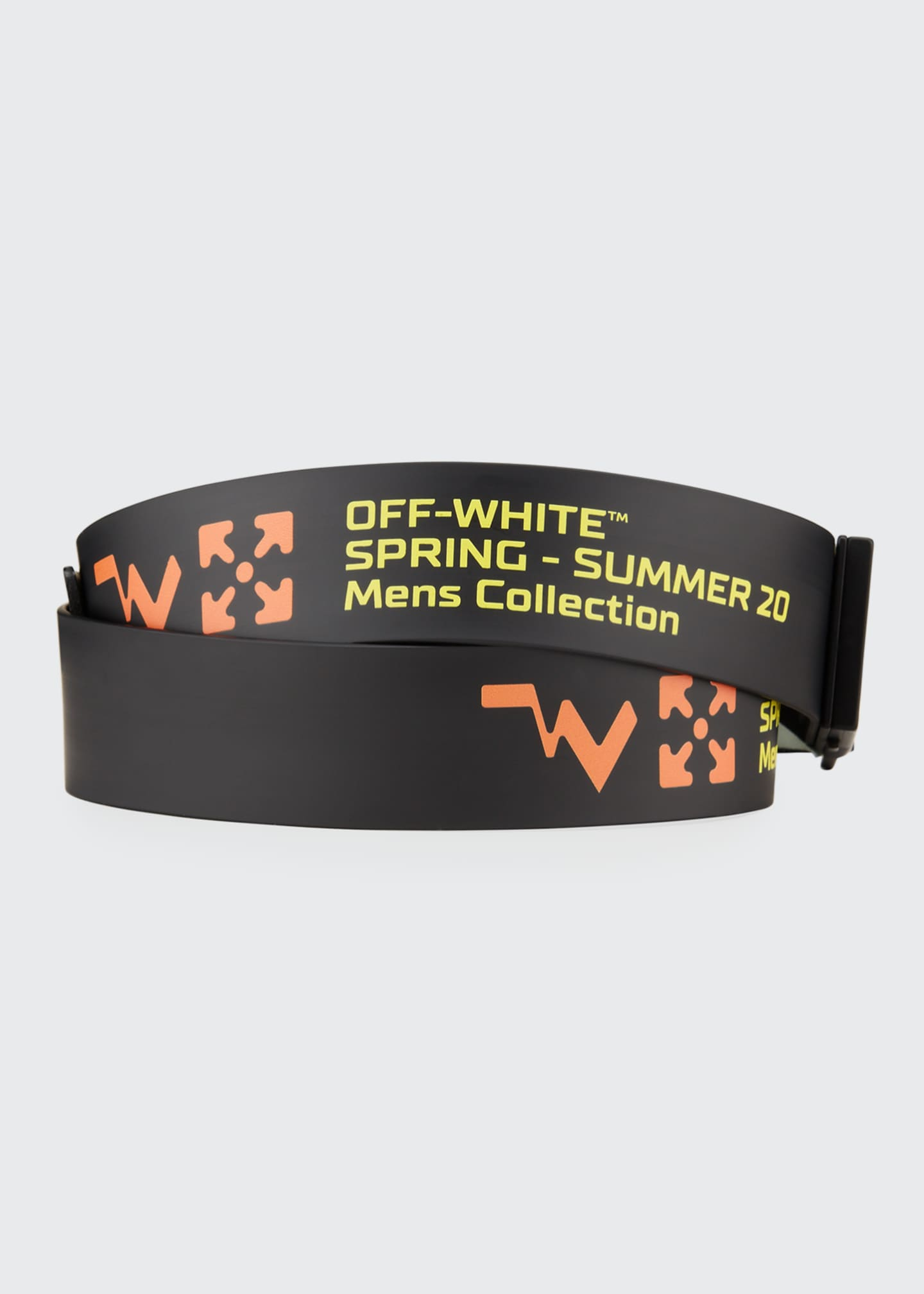 Image 2 of 2: Men's Arrow Iridescent-Buckle Rubber Belt