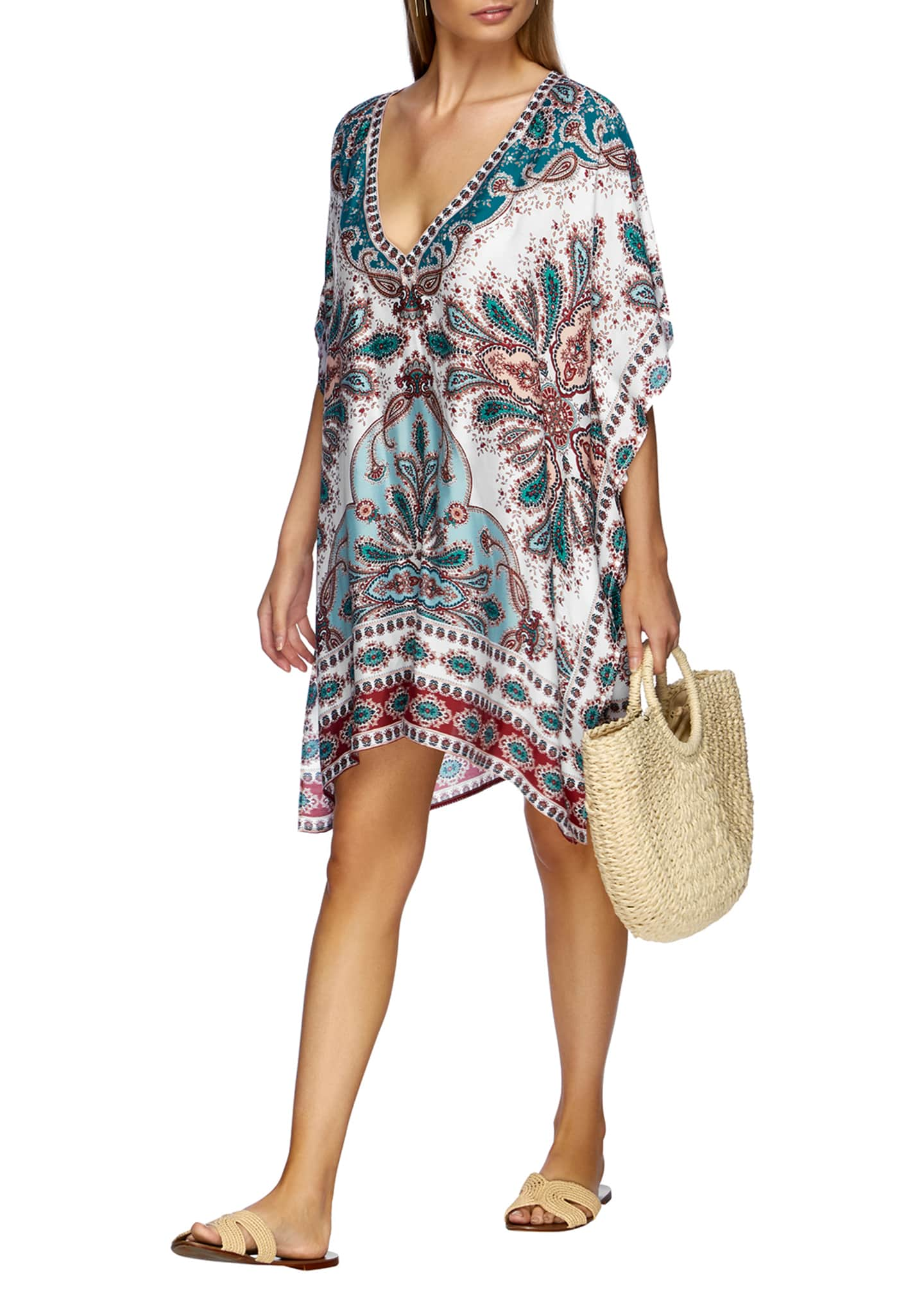 Image 2 of 3: Reverie Printed Kaftan