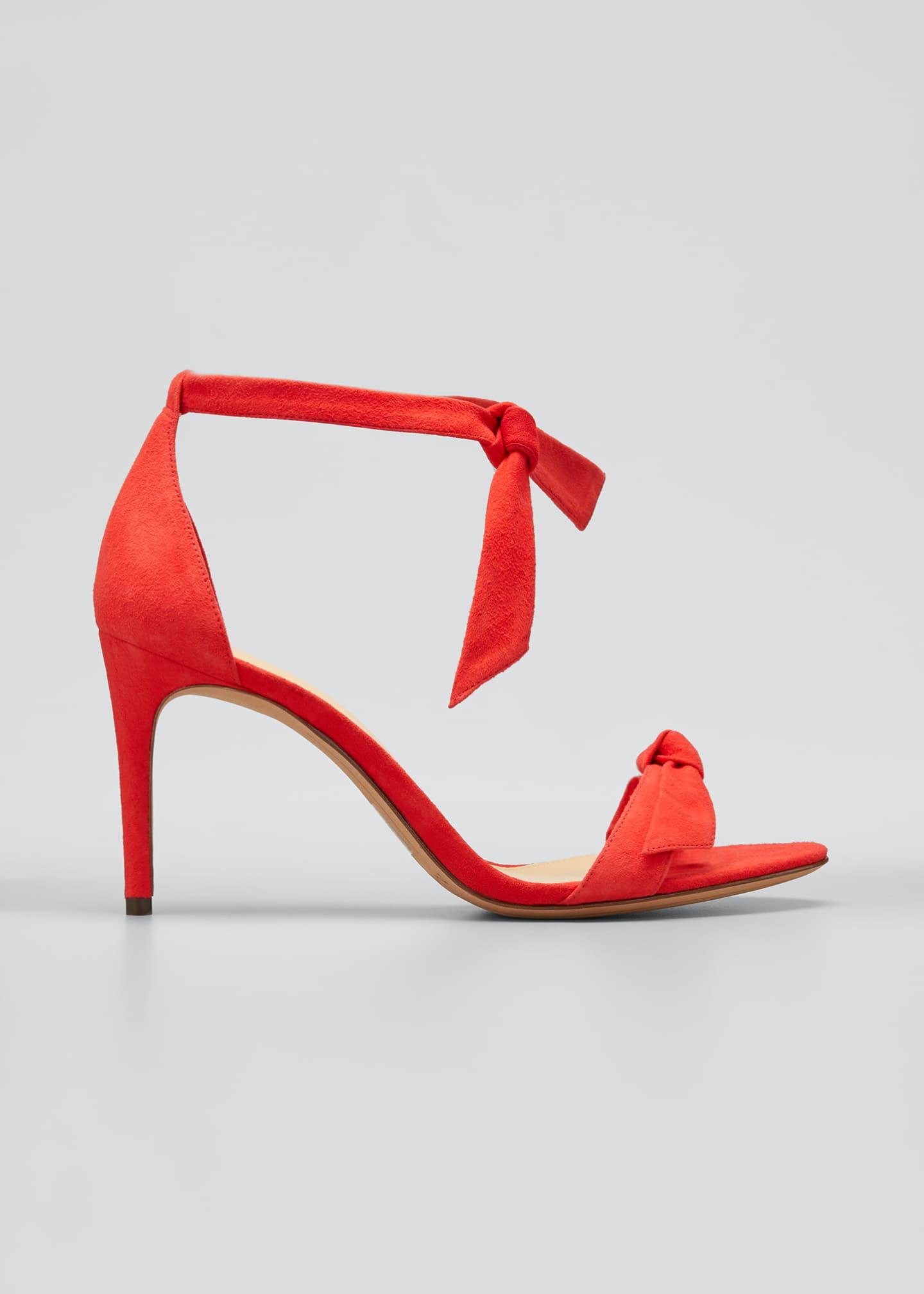 Alexandre Birman Clarita 85mm Suede Ankle-Tie Sandals
