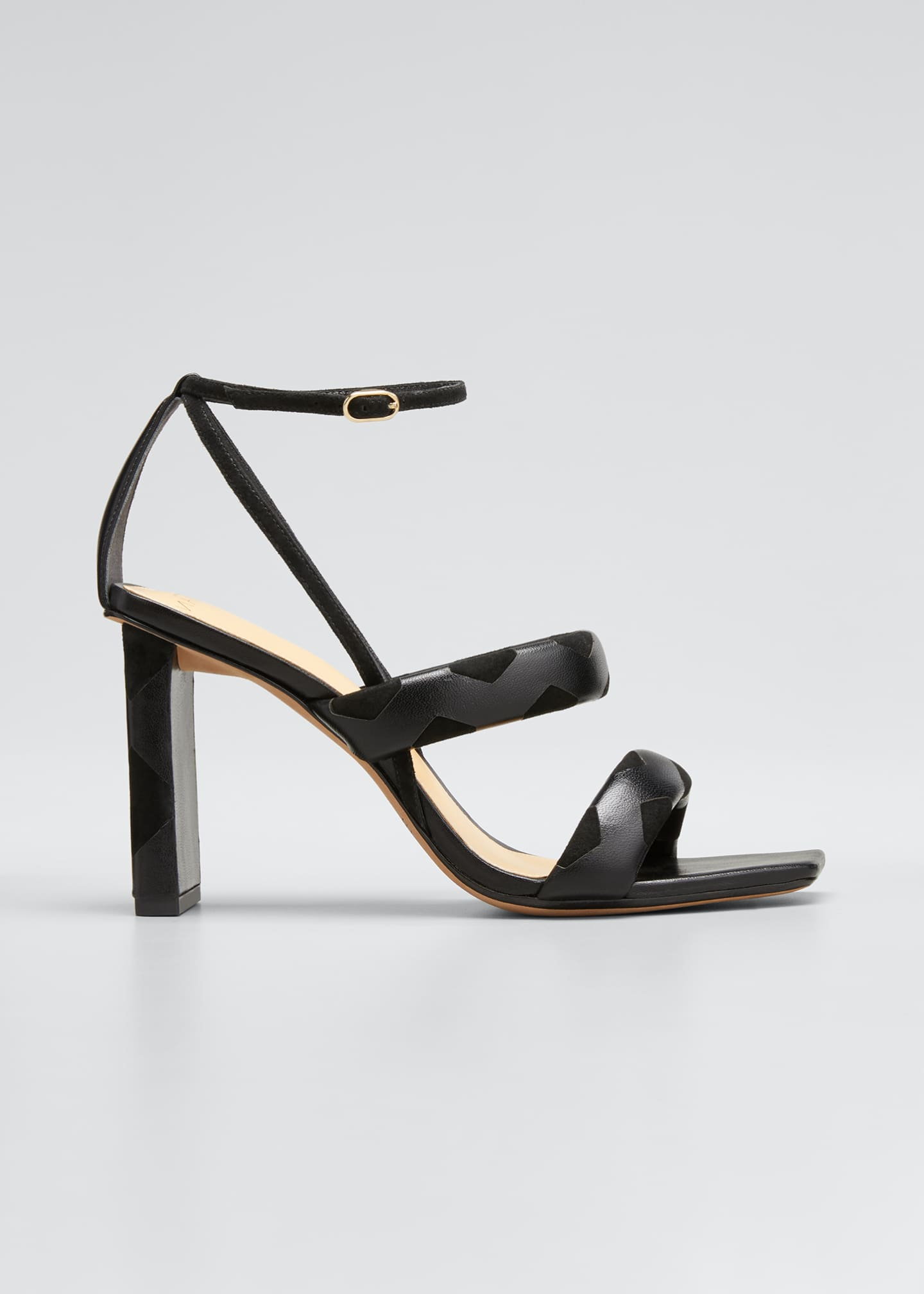 Alexandre Birman Clarita Mixed Leather Strappy Sandals