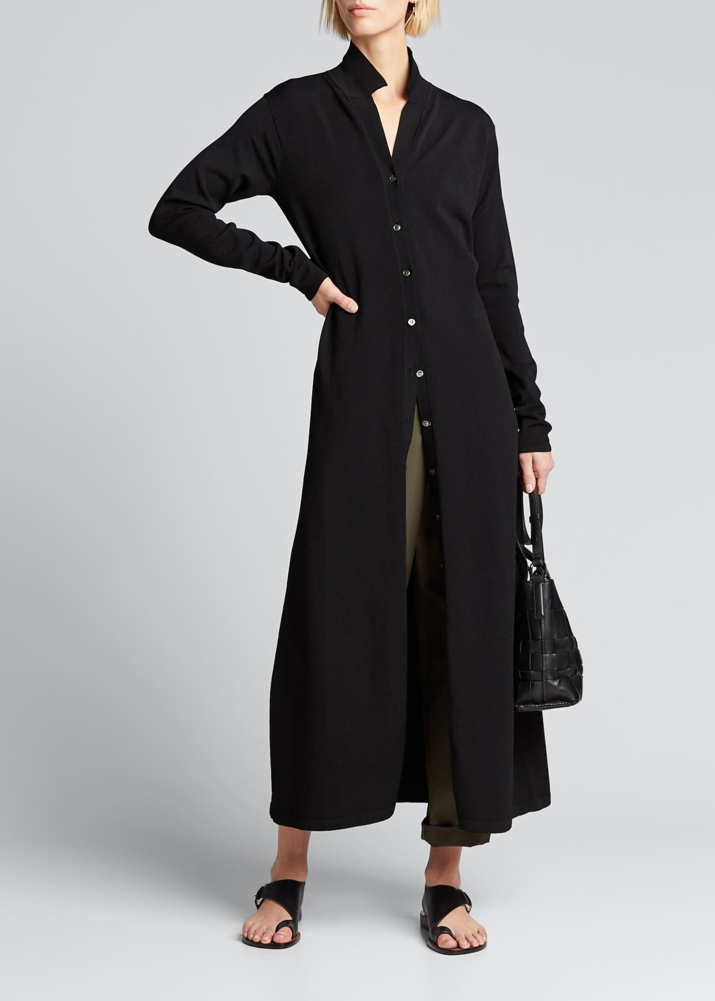 Deveaux New York Button-Front Maxi Dress
