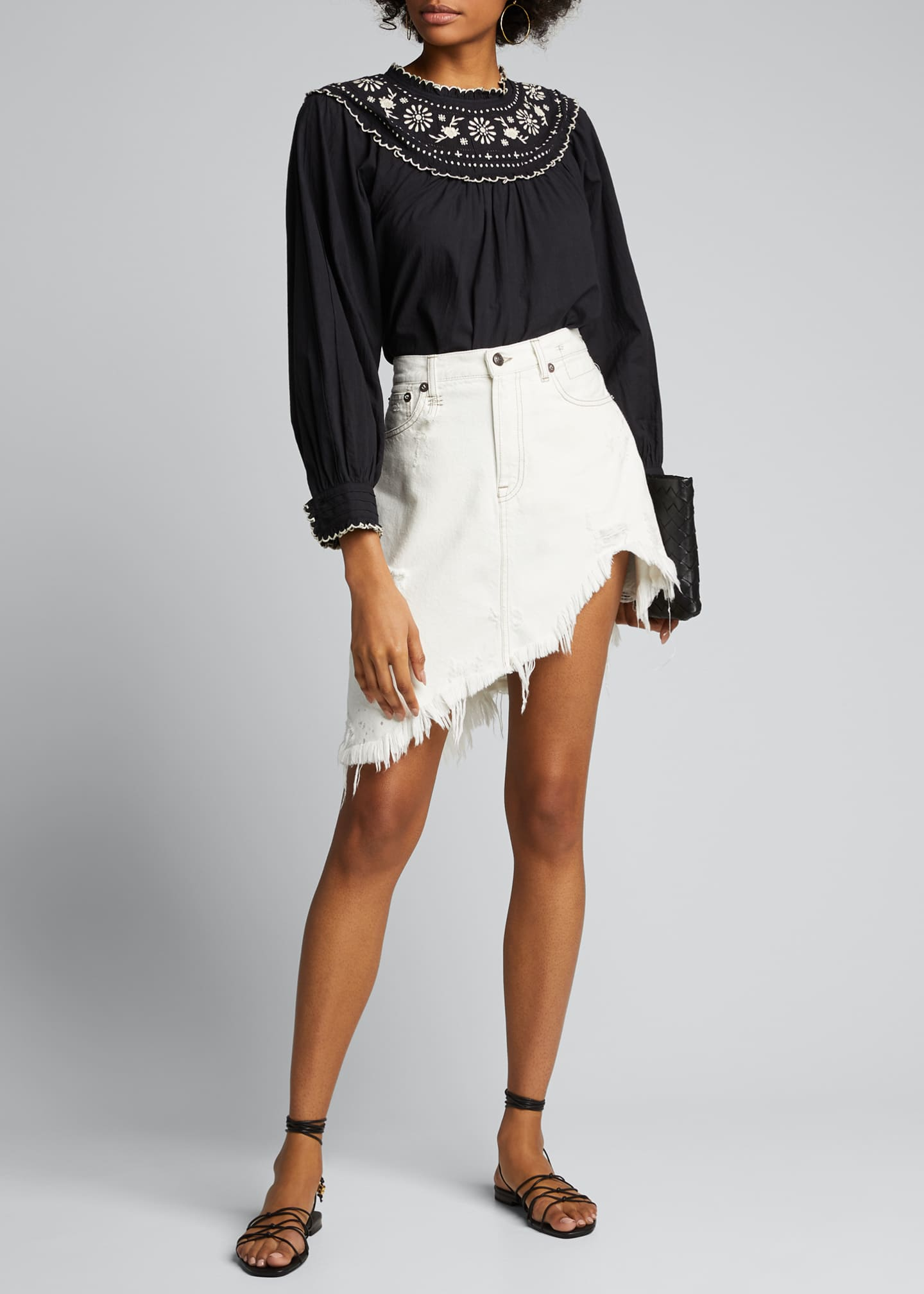 Image 1 of 5: Asymmetrical Denim Skirt