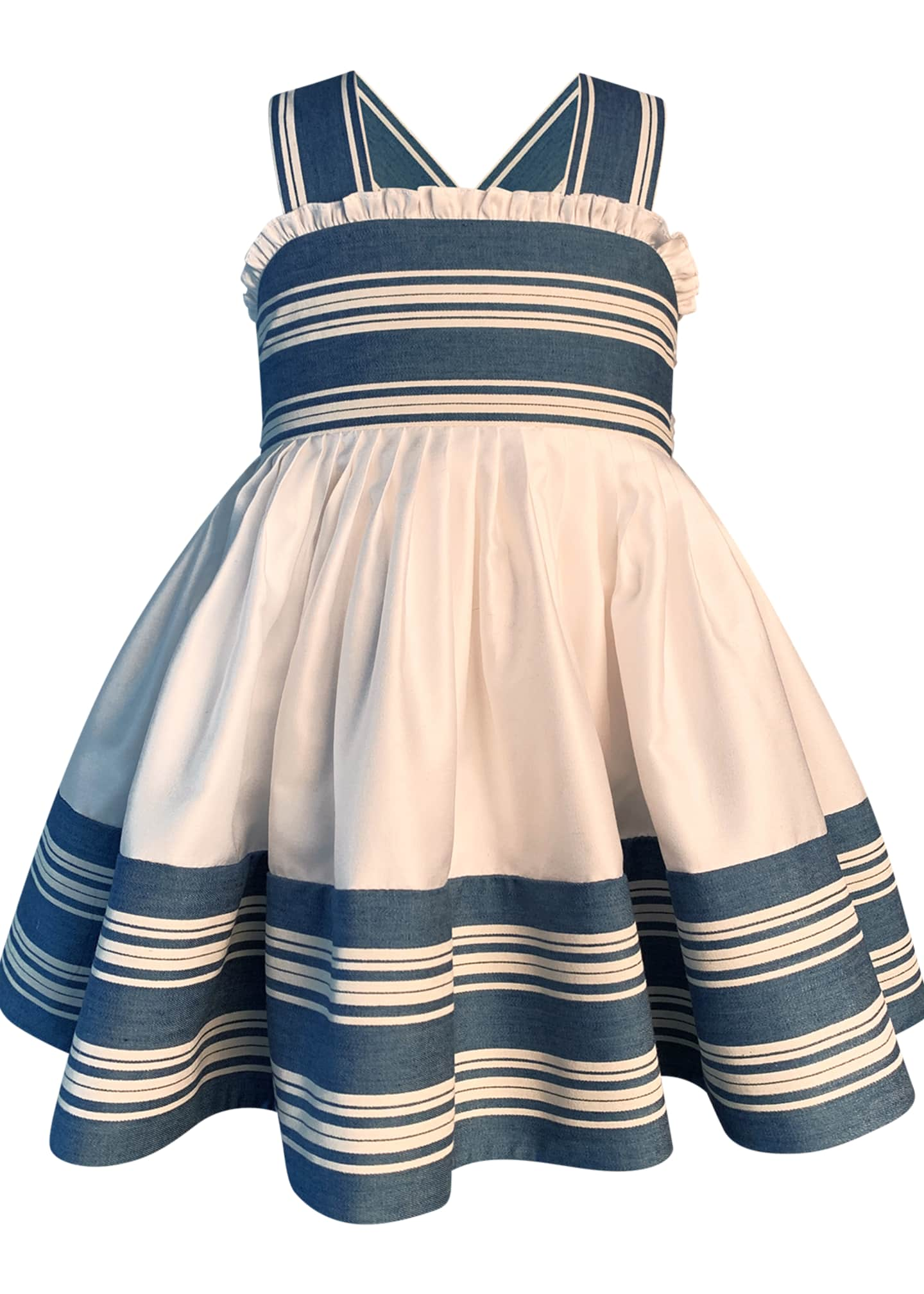 Image 1 of 2: Girl's Striped Sun Dress, Size 7-10