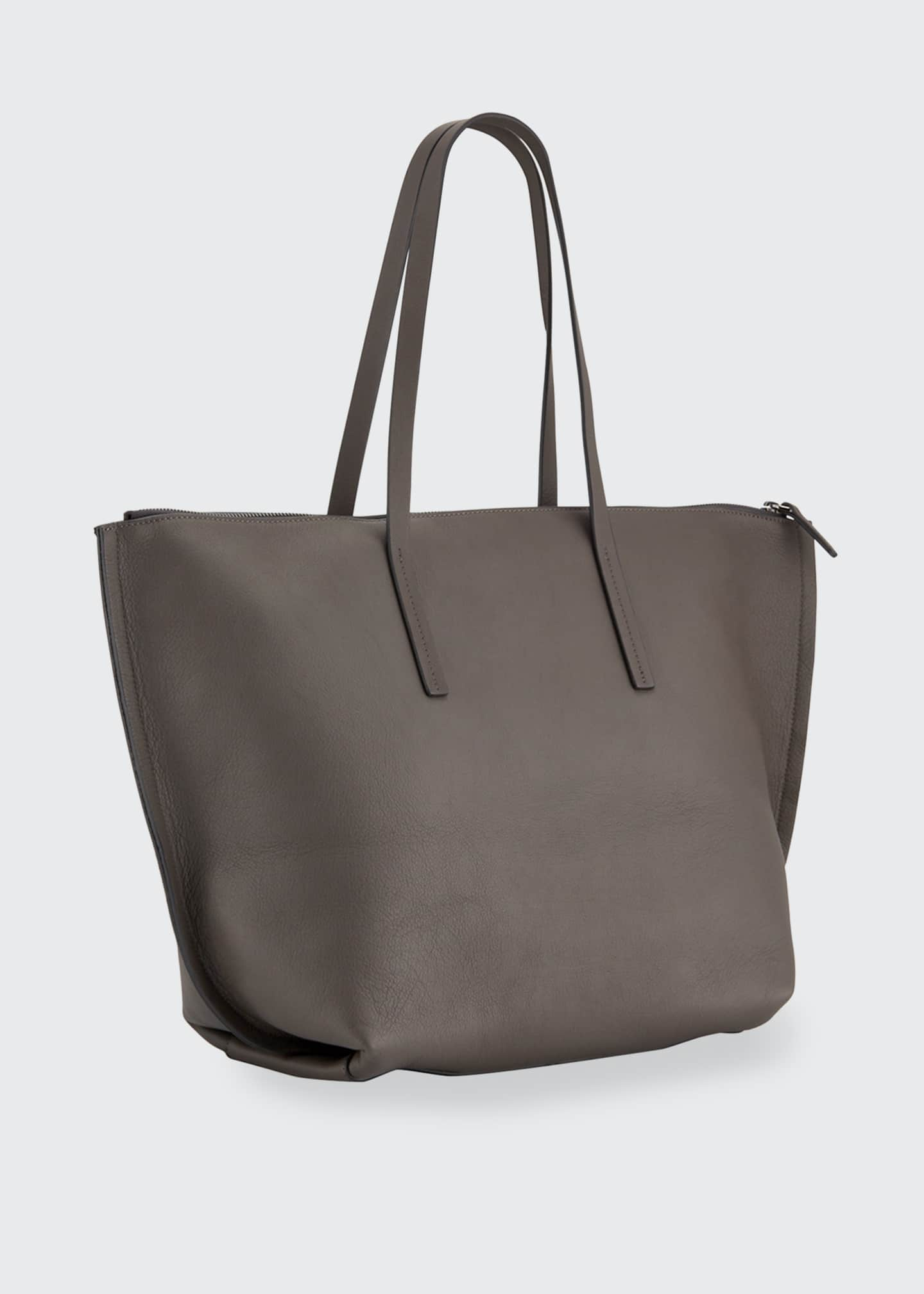 Image 2 of 3: Large Zip Tote Bag With Monili Side Detail