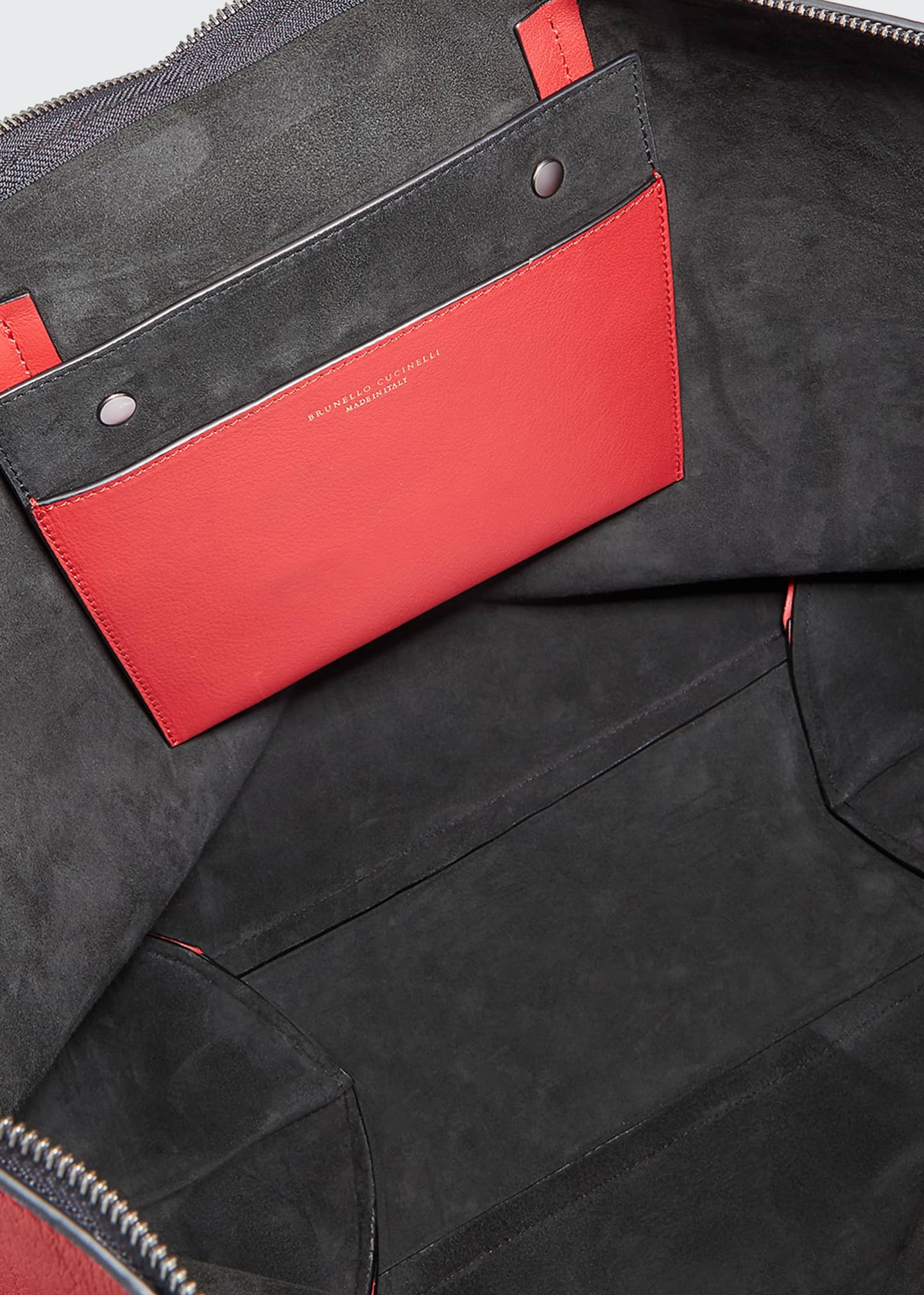 Image 3 of 3: Large Zip Tote Bag With Monili Side Detail