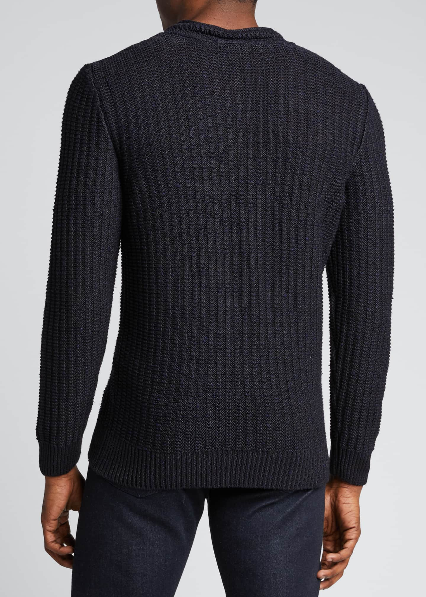 Image 2 of 5: Men's Ribbed-Knit Pullover Sweater