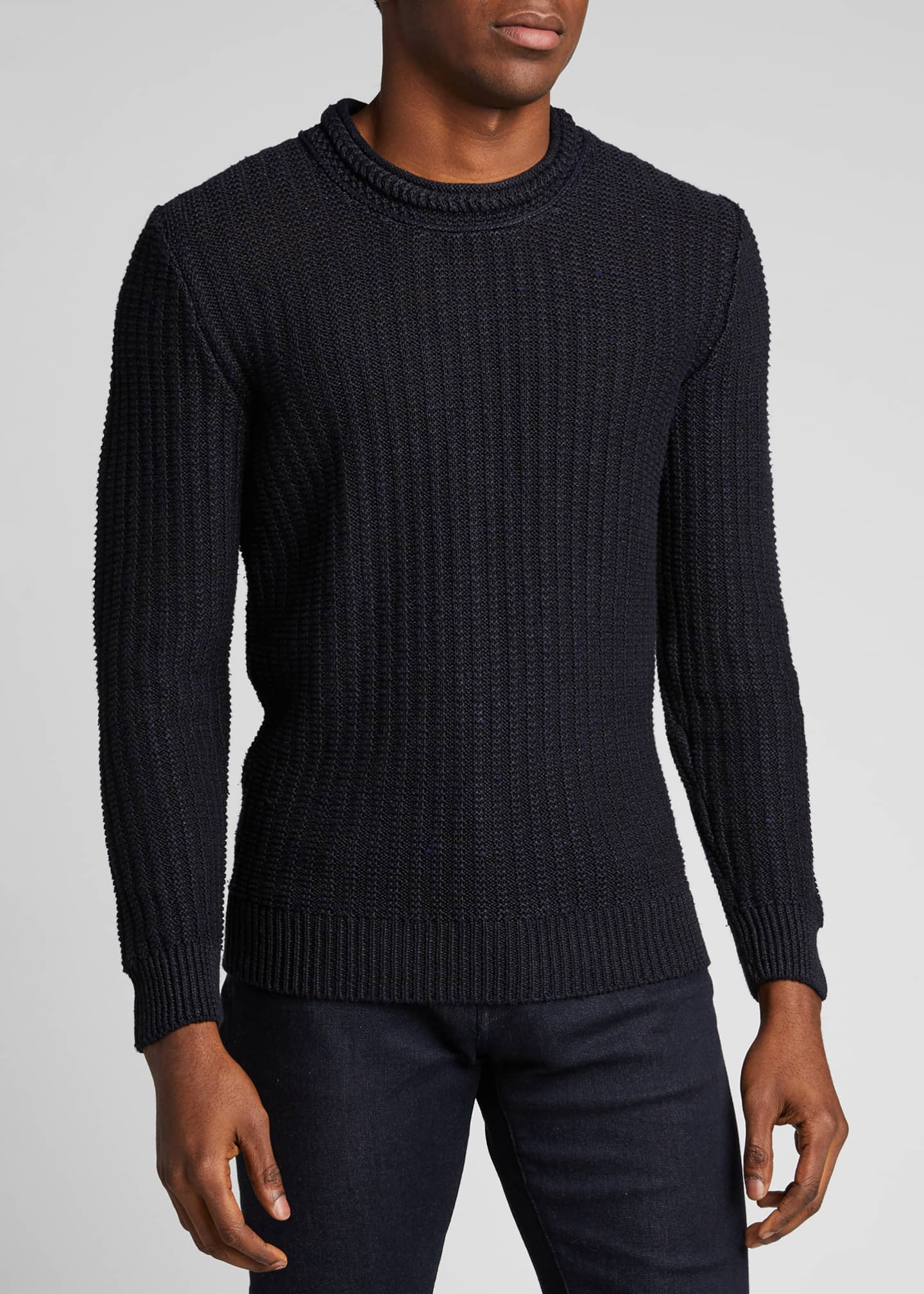 Image 3 of 5: Men's Ribbed-Knit Pullover Sweater