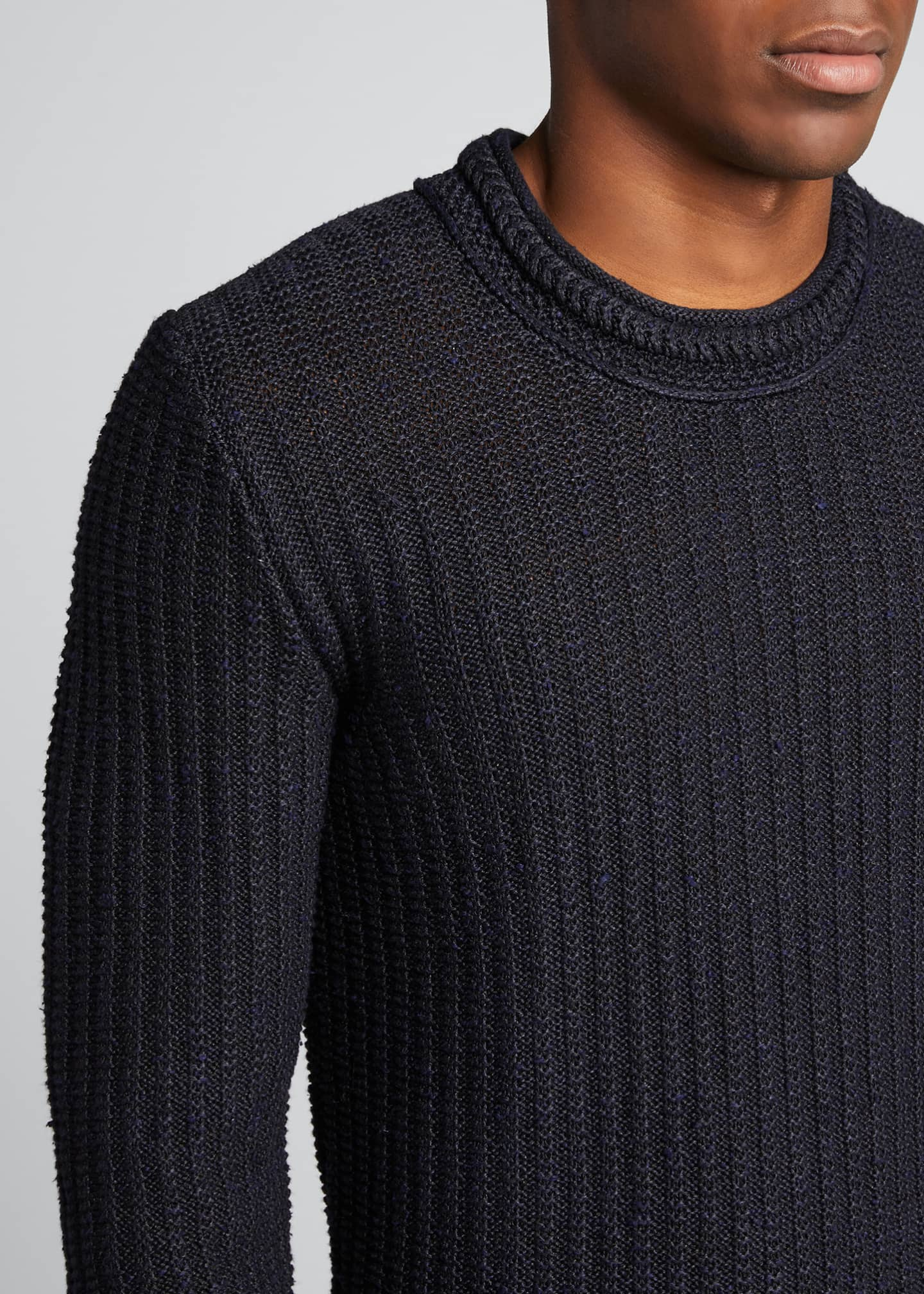Image 4 of 5: Men's Ribbed-Knit Pullover Sweater