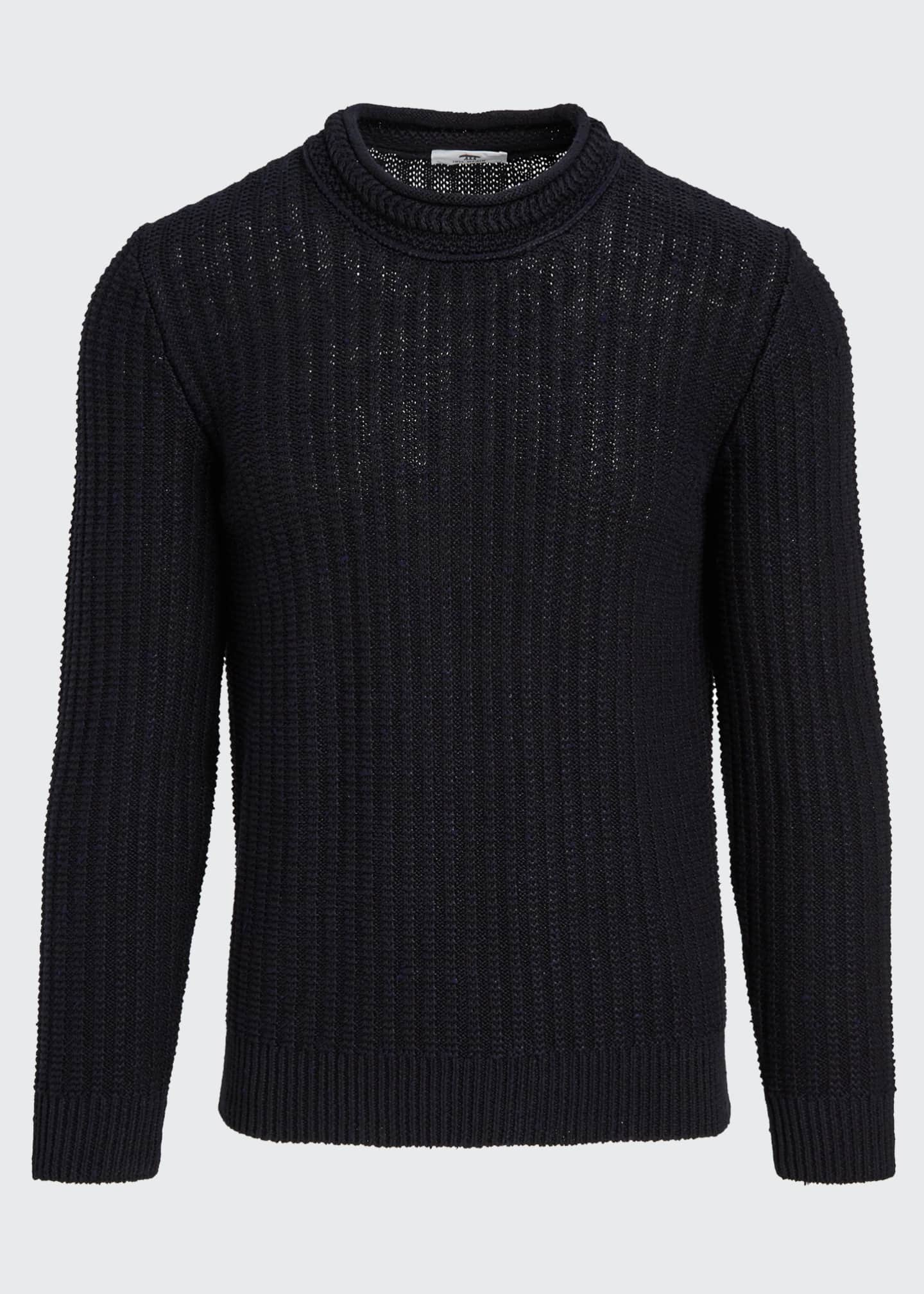Image 5 of 5: Men's Ribbed-Knit Pullover Sweater