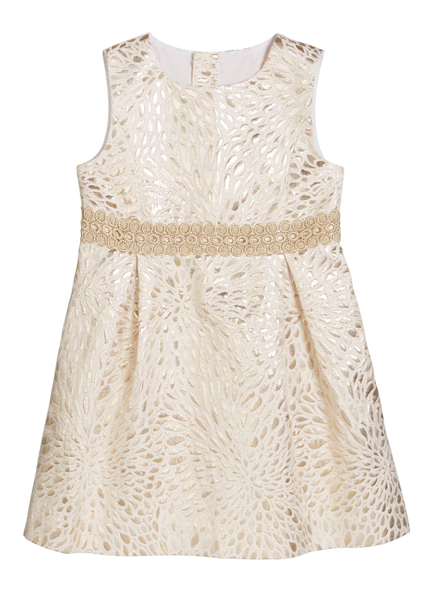 Lilly Pulitzer Girl's Abrianna Metallic Jacquard Dress, Size
