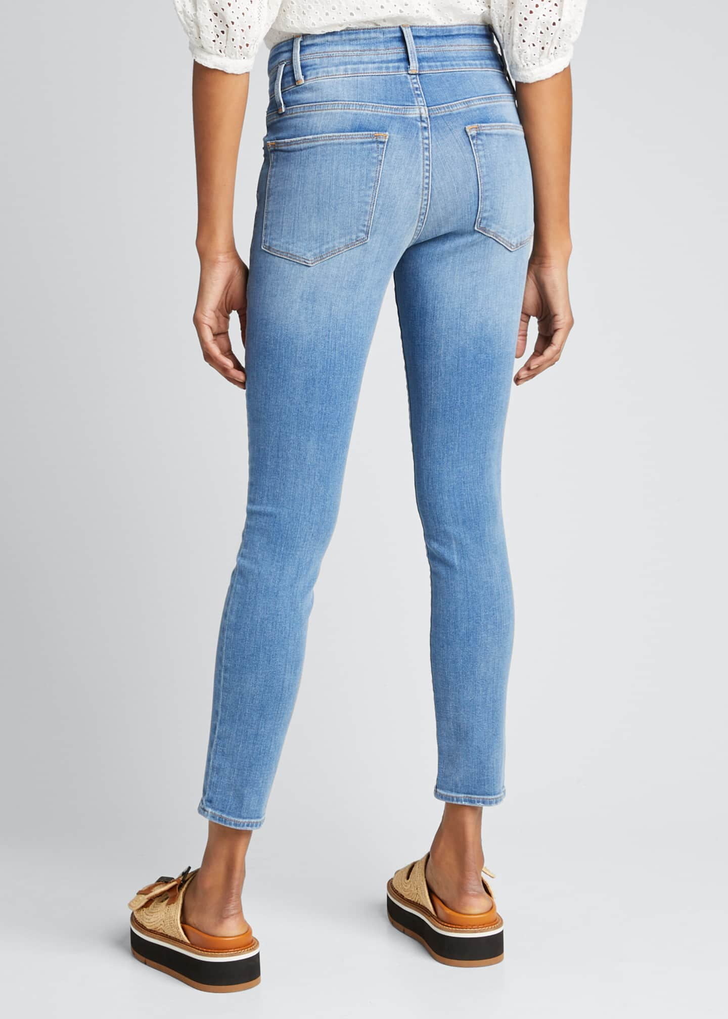 Image 2 of 5: Le High Double-Waistband Cropped Skinny Jeans