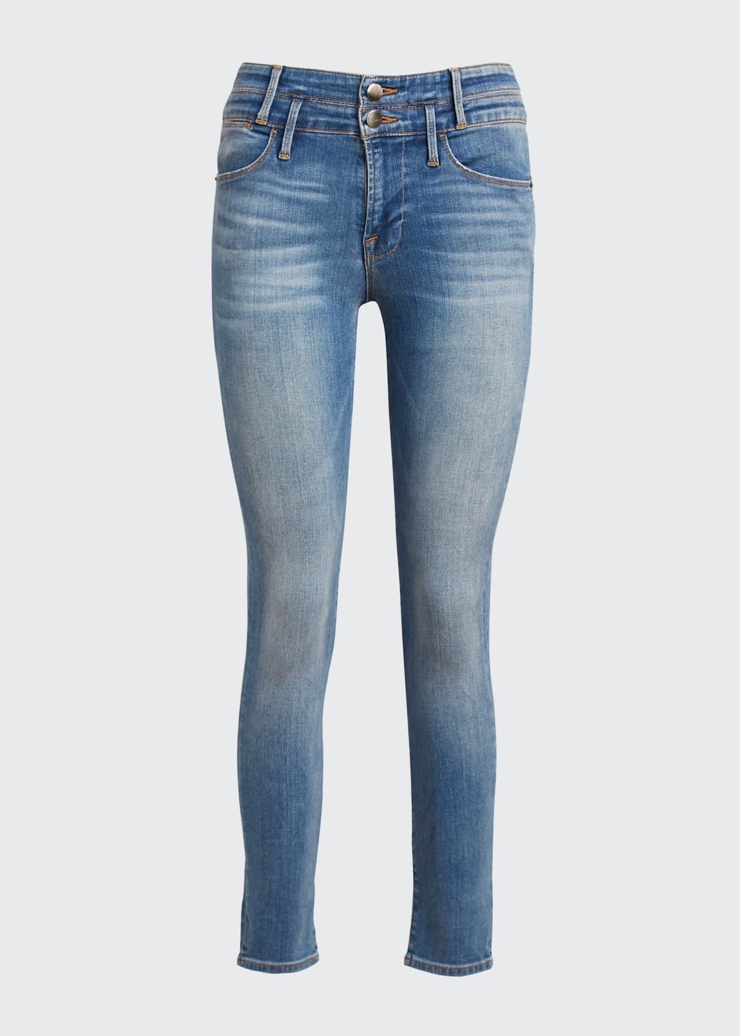 Image 5 of 5: Le High Double-Waistband Cropped Skinny Jeans