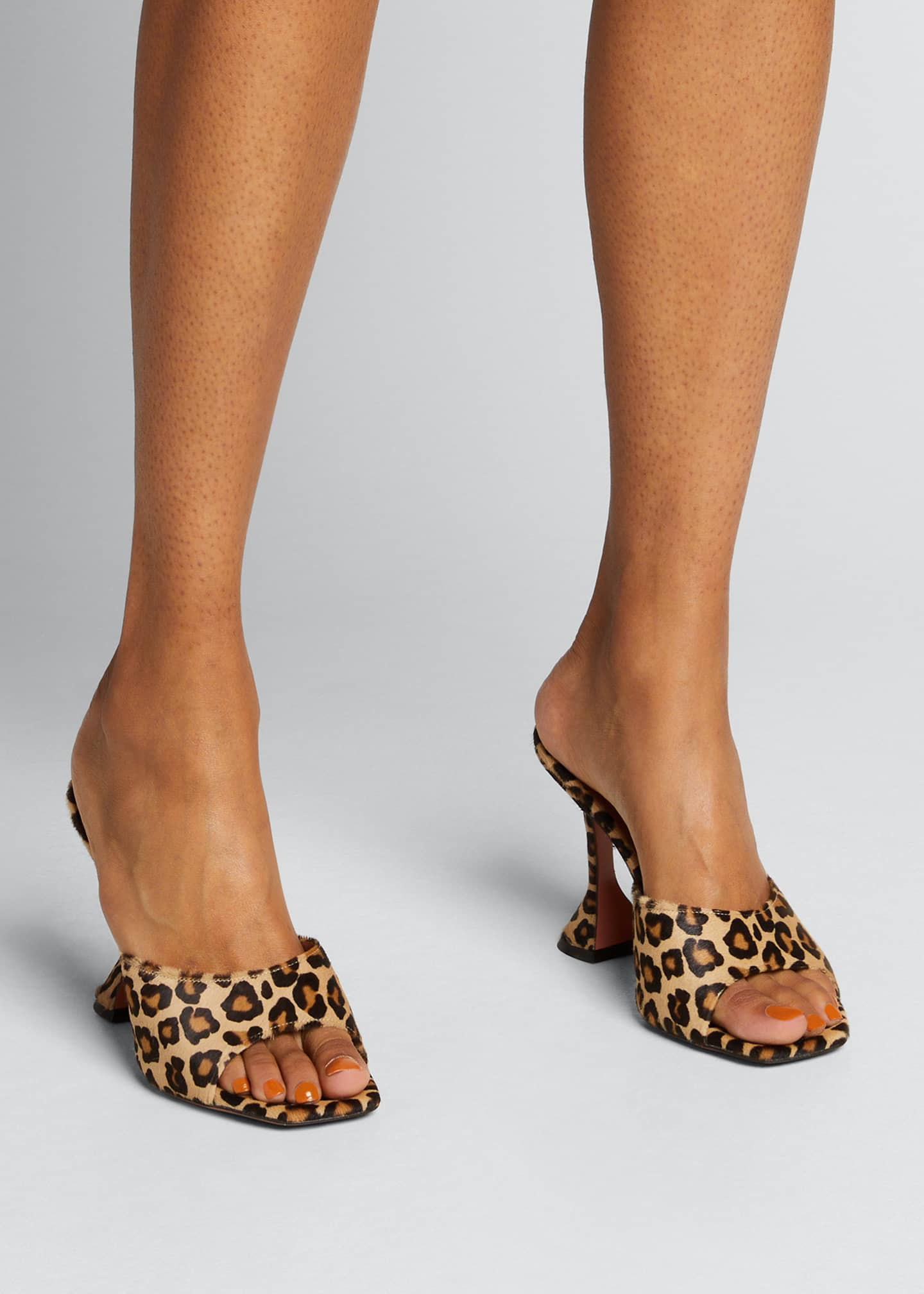 Image 2 of 5: Lupita Leather Slide Sandals