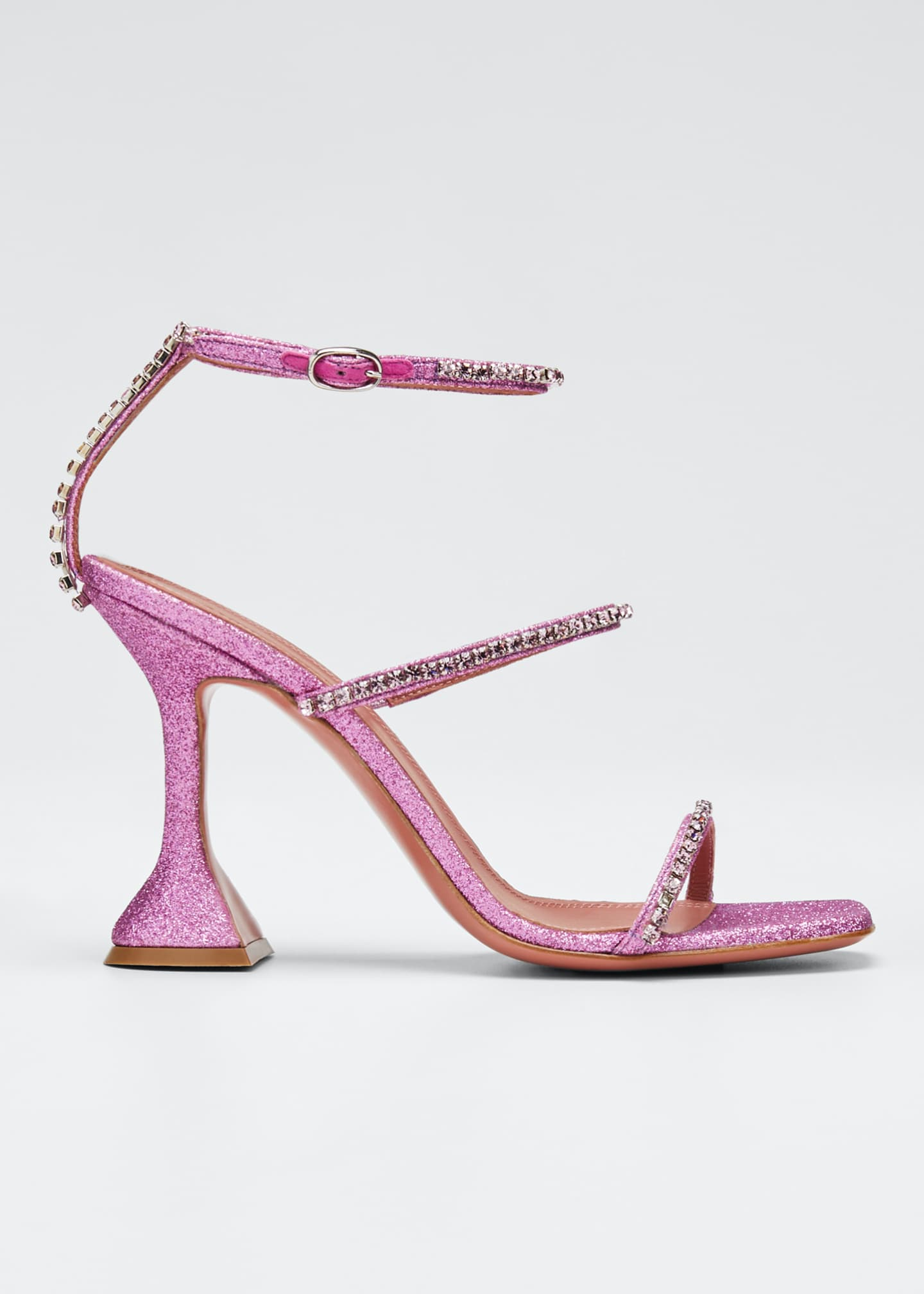 Image 1 of 3: Gilda Crystal Glitter Sandals