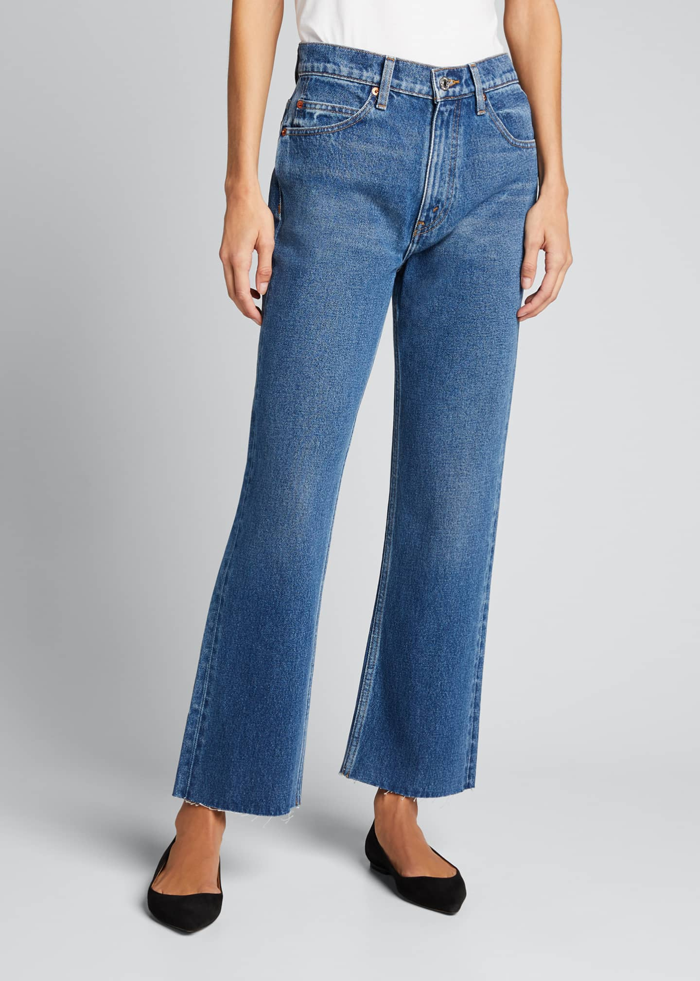Image 3 of 5: 70s Crop Boot-Cut Jeans