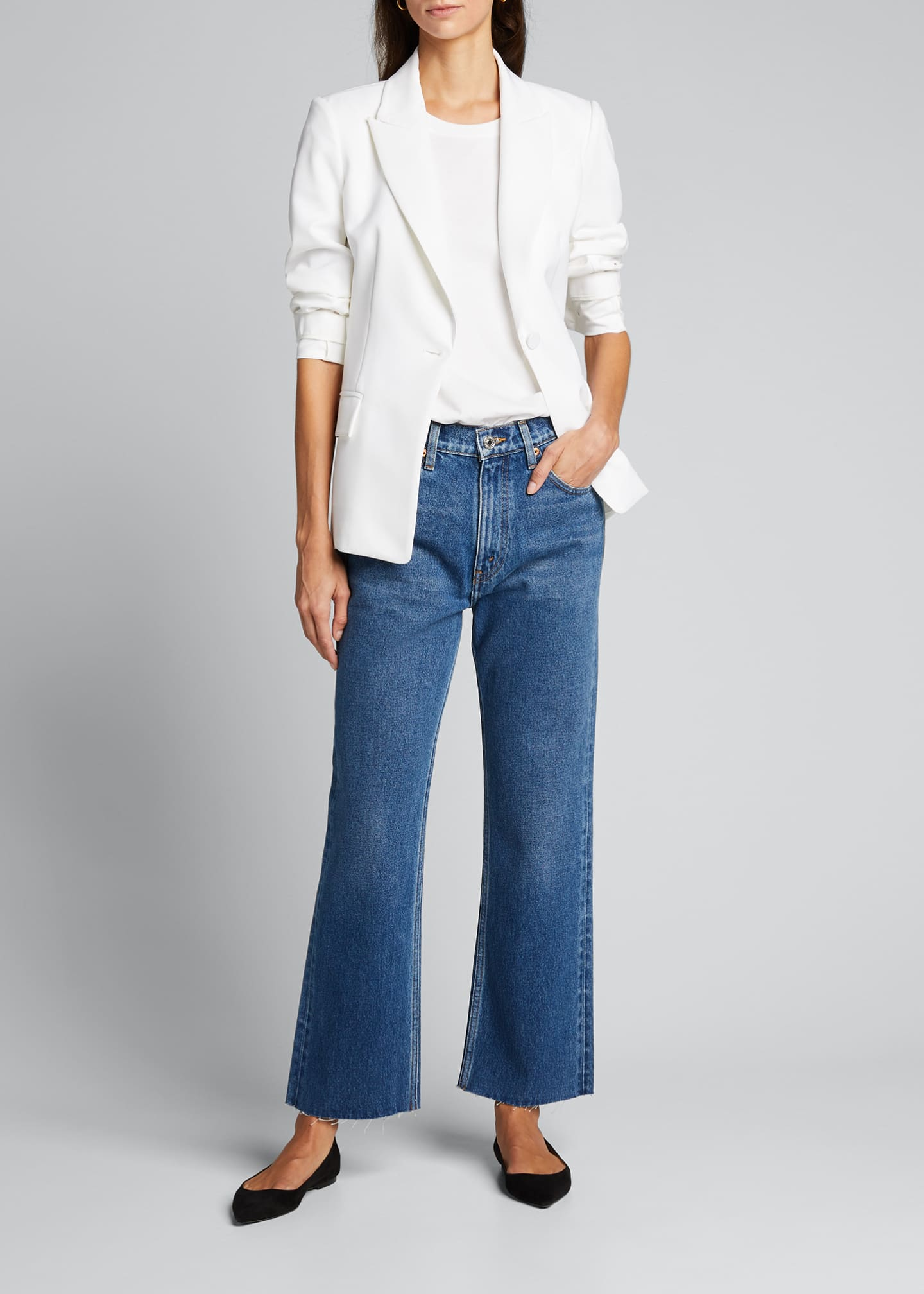 Image 1 of 5: 70s Crop Boot-Cut Jeans