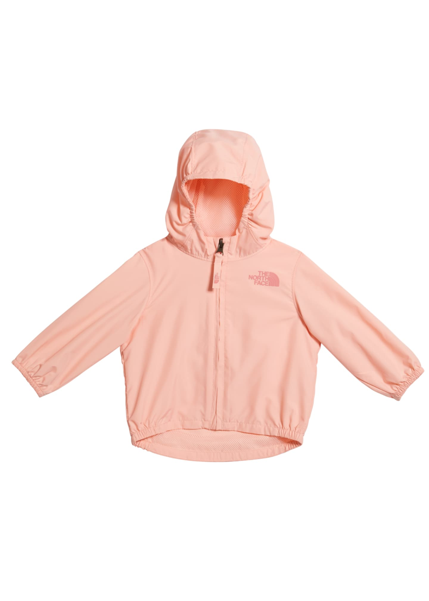 Image 1 of 2: Girl's Flurry Wind-Resistant Hooded Jacket, Size 6-24 Months
