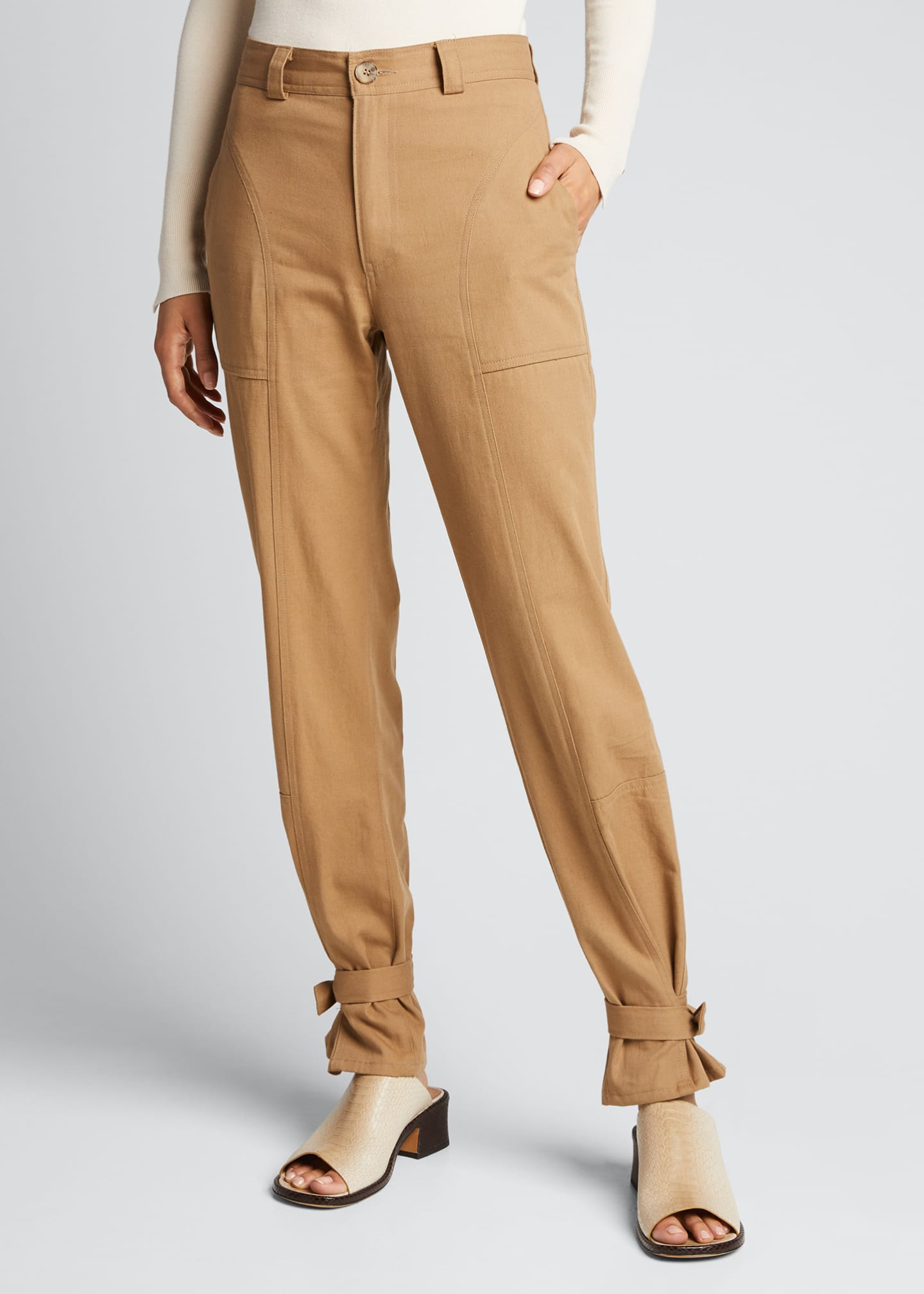 Image 3 of 5: Darcy Cinched Ankle Trousers