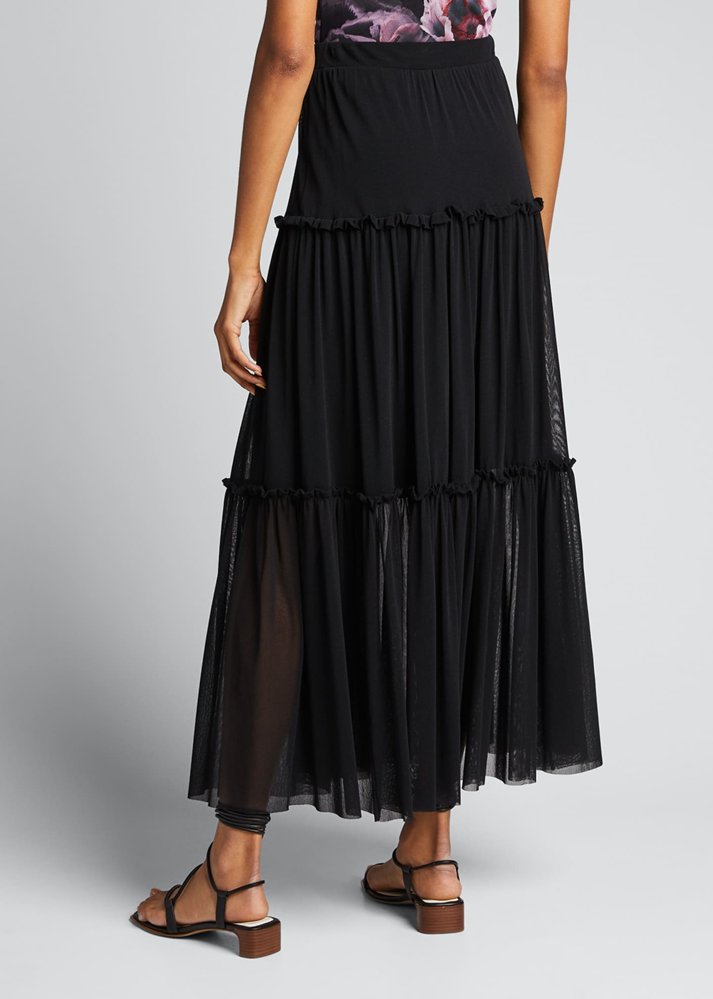 Image 2 of 5: Long Tiered Full Skirt