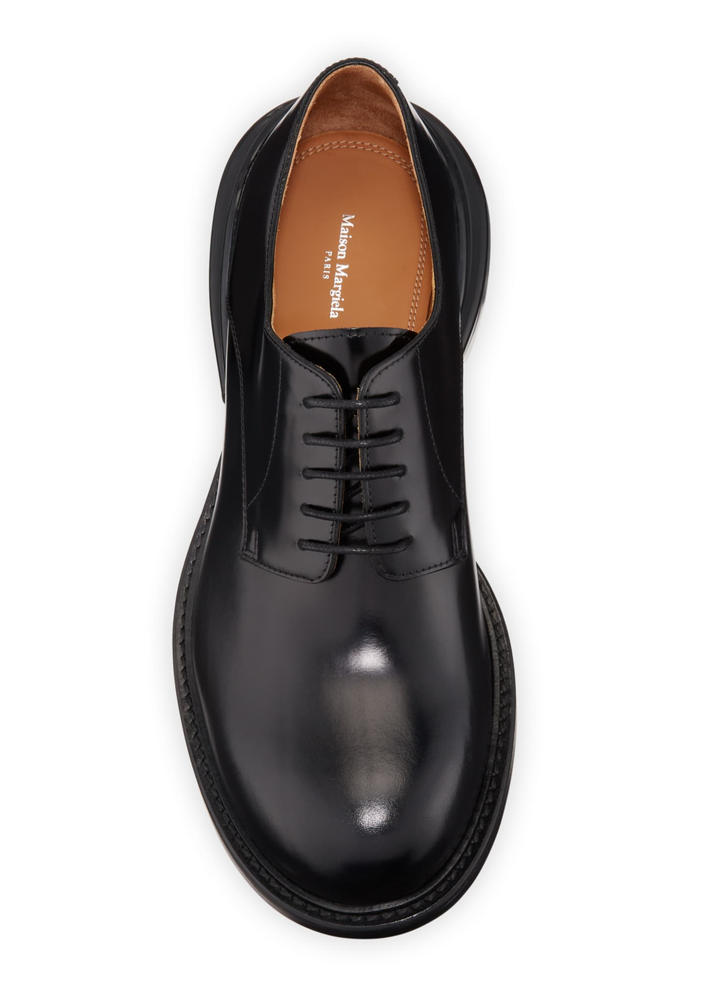 Image 2 of 5: Men's Airbag Clear-Heel Leather Derby Shoes