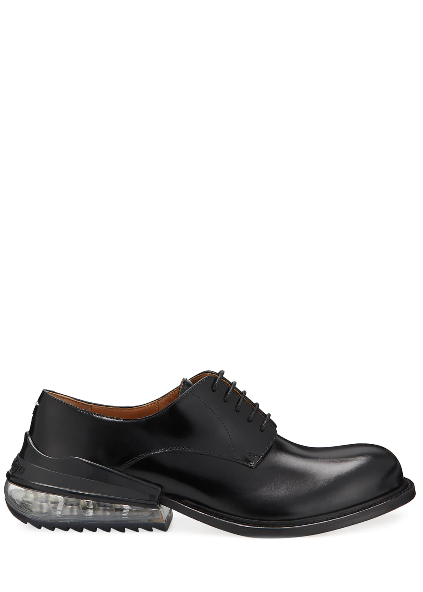 Image 3 of 5: Men's Airbag Clear-Heel Leather Derby Shoes
