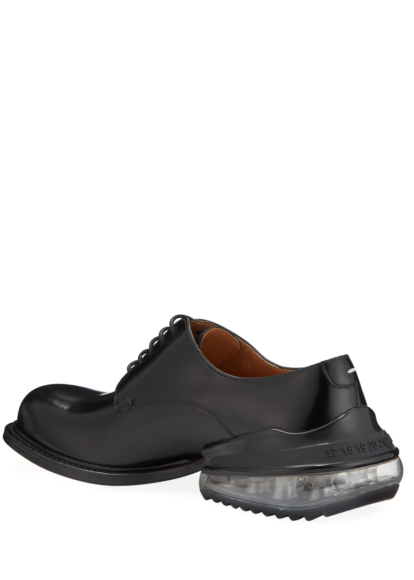 Image 4 of 5: Men's Airbag Clear-Heel Leather Derby Shoes