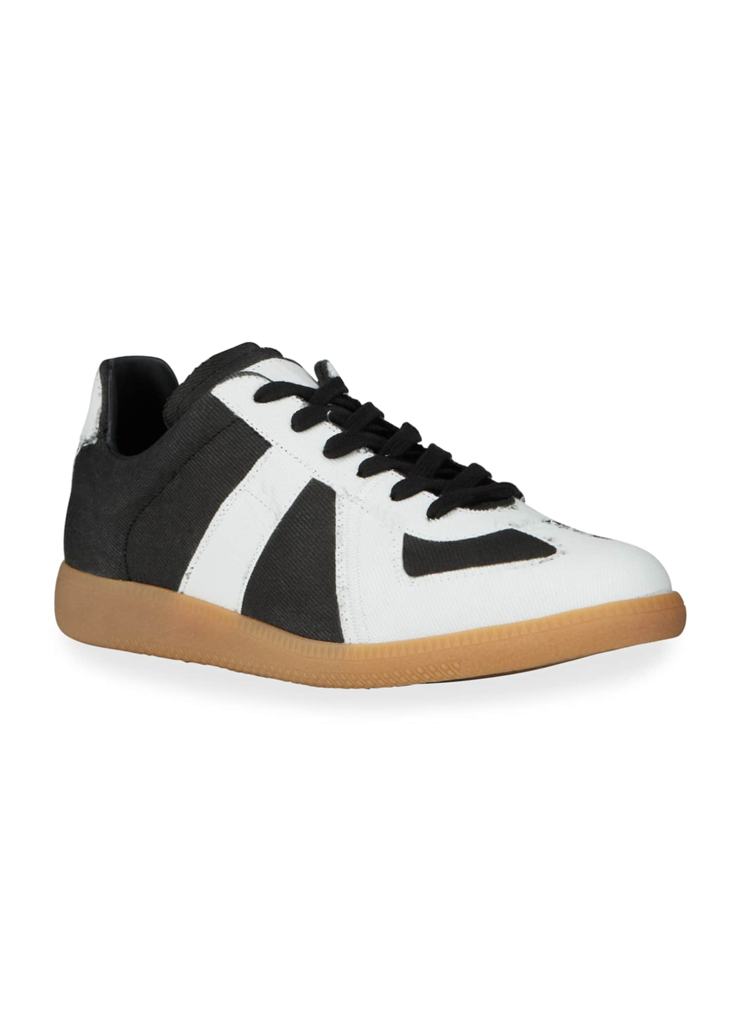 Image 2 of 4: Men's Canvas Low-Top Sneakers