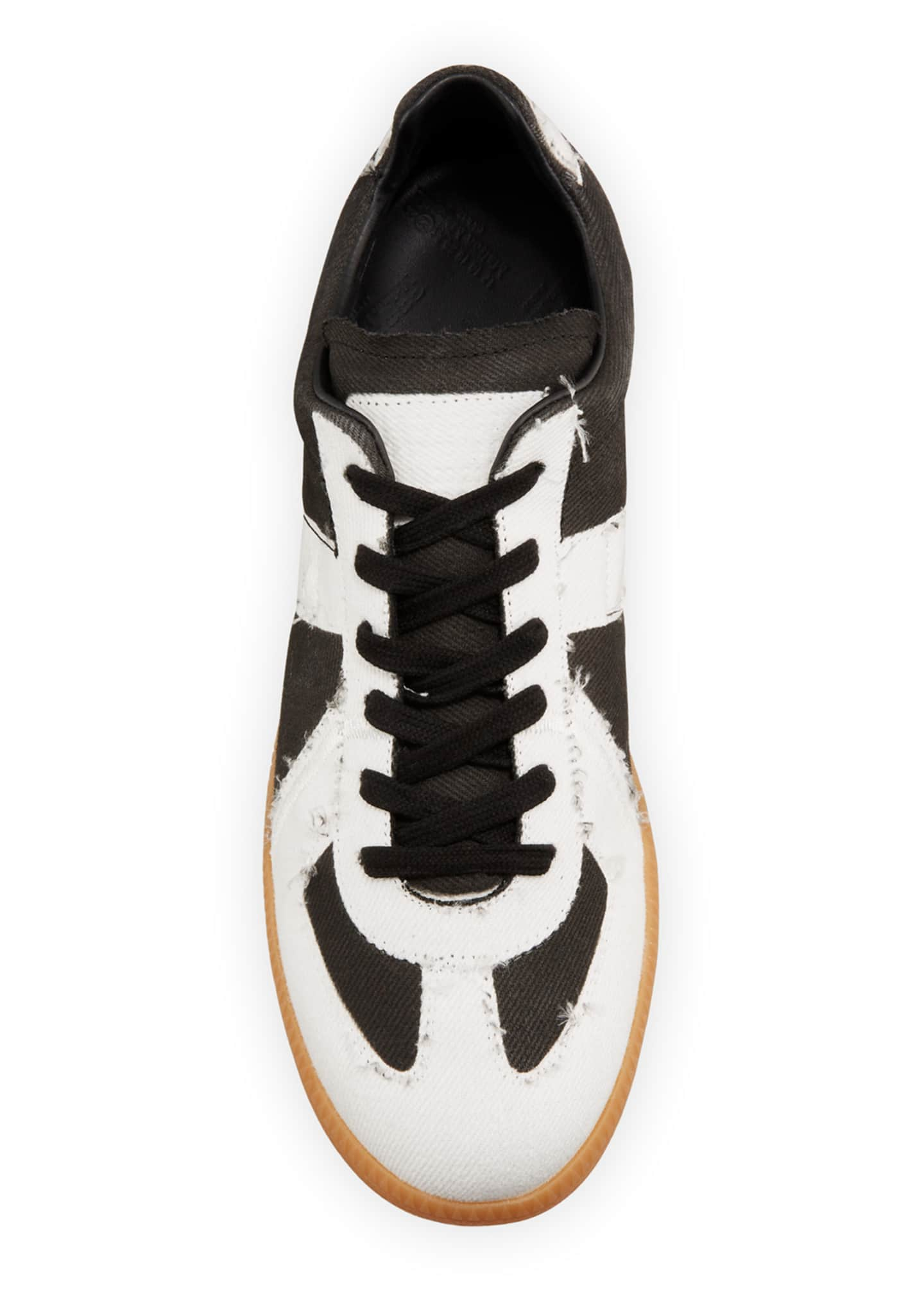 Image 3 of 4: Men's Canvas Low-Top Sneakers