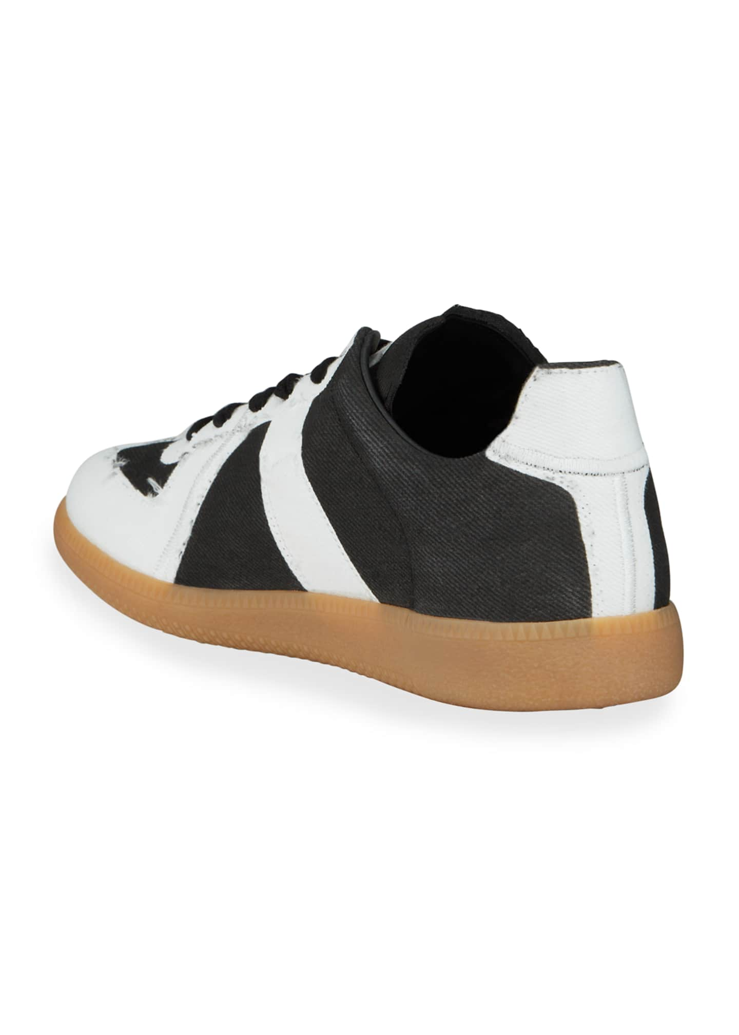 Image 4 of 4: Men's Canvas Low-Top Sneakers