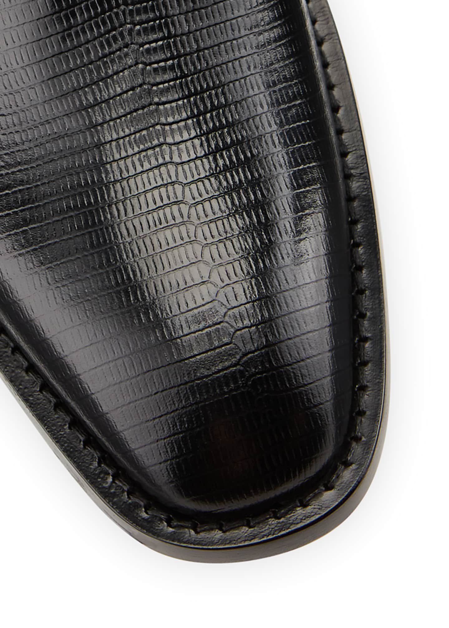 Image 4 of 4: Men's Chrystal Textured Leather Booties