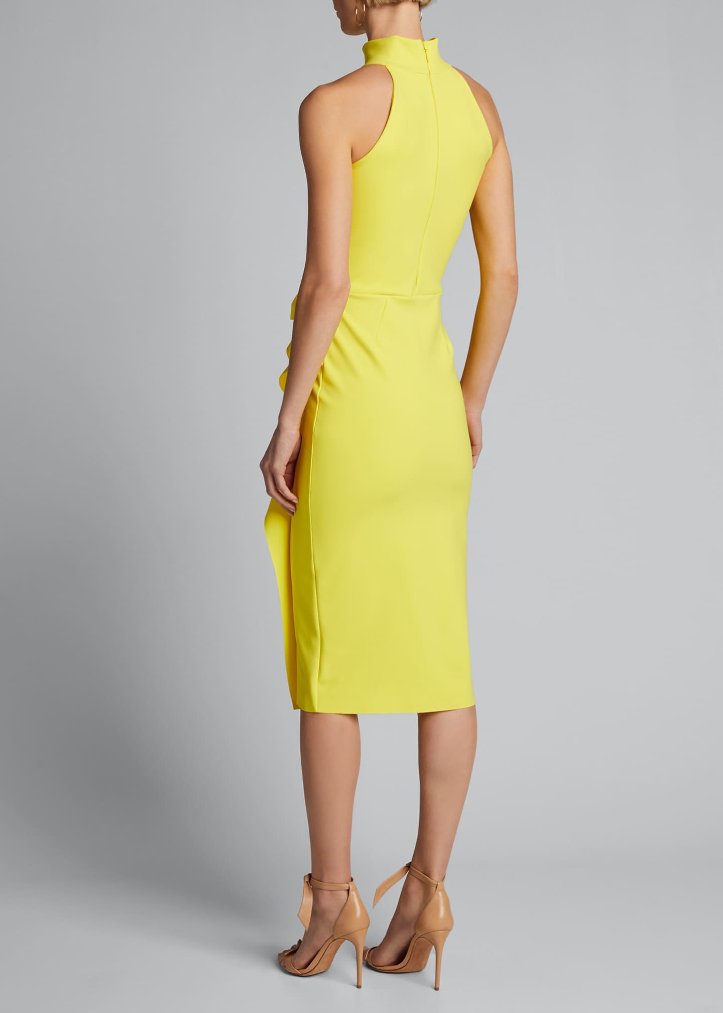 Image 2 of 4: Sleeveless Halter Ruched Dress