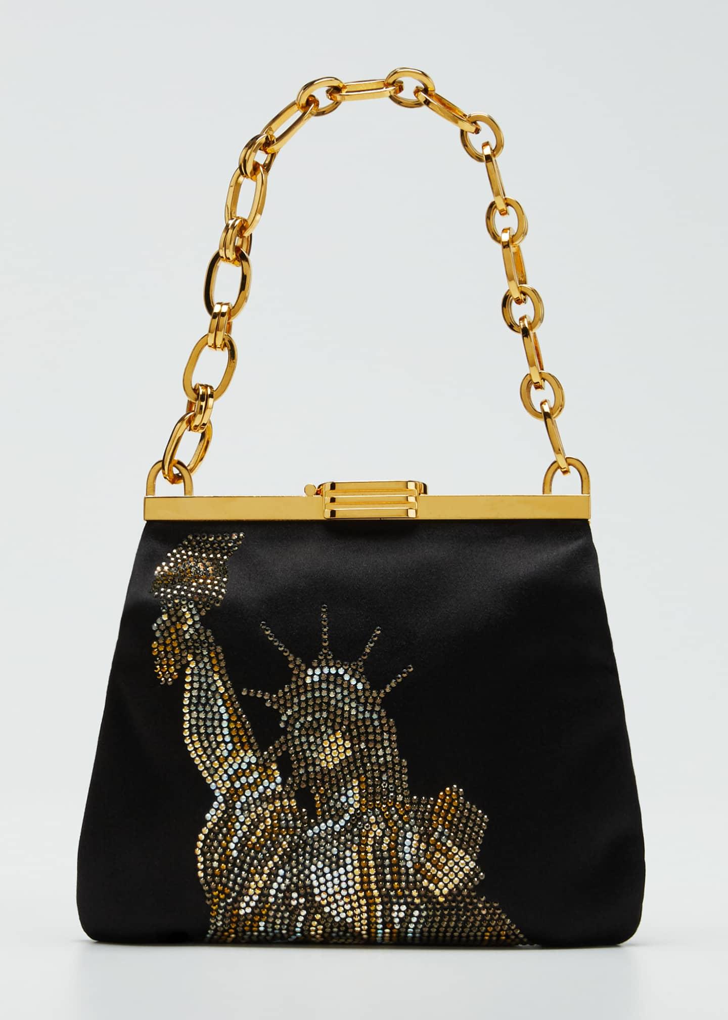 Bienen Davis Statue of Liberty Crystal Clutch Bag