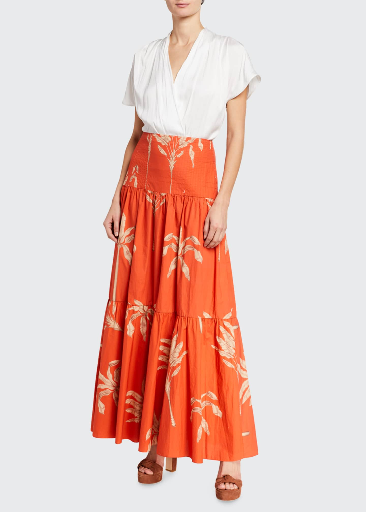 Image 1 of 3: Powerful Rhythm Tiered Maxi Skirt