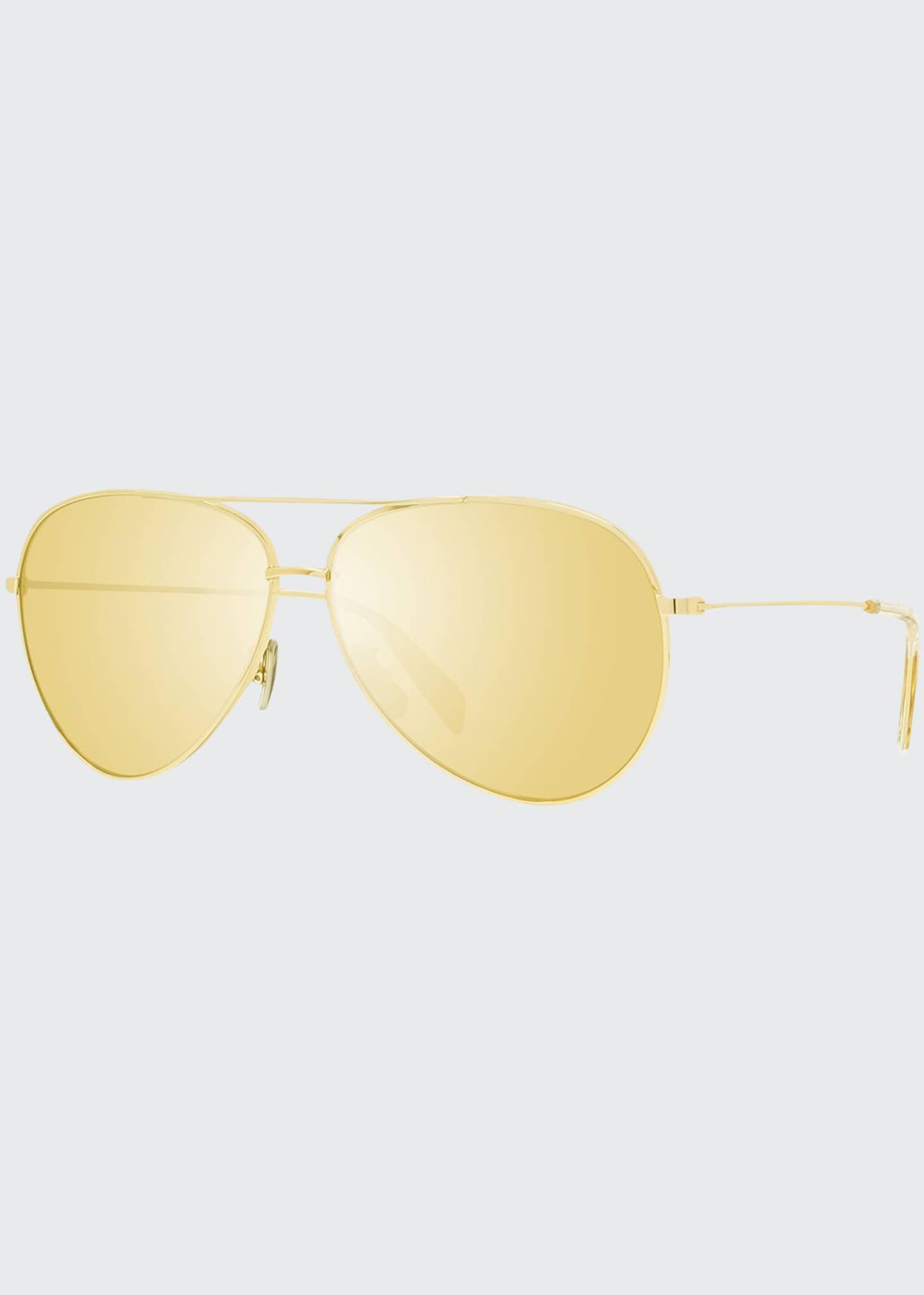 Celine Avant Premiere Mirrored Aviator Sunglasses