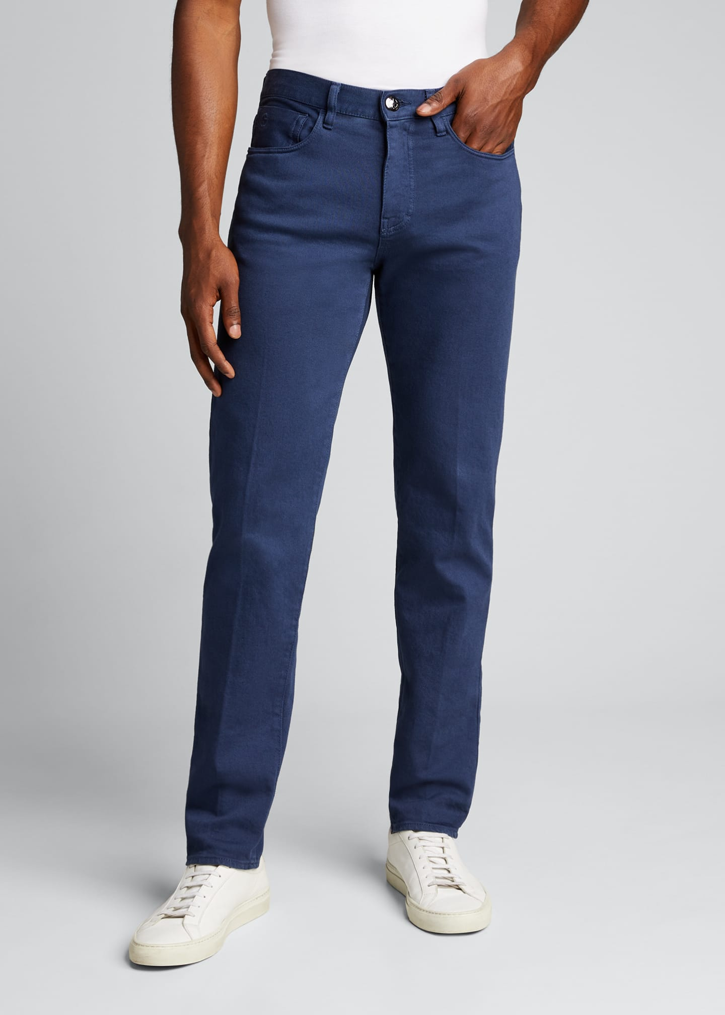 Image 3 of 5: Men's Relaxed Slim Five-Pocket Jeans