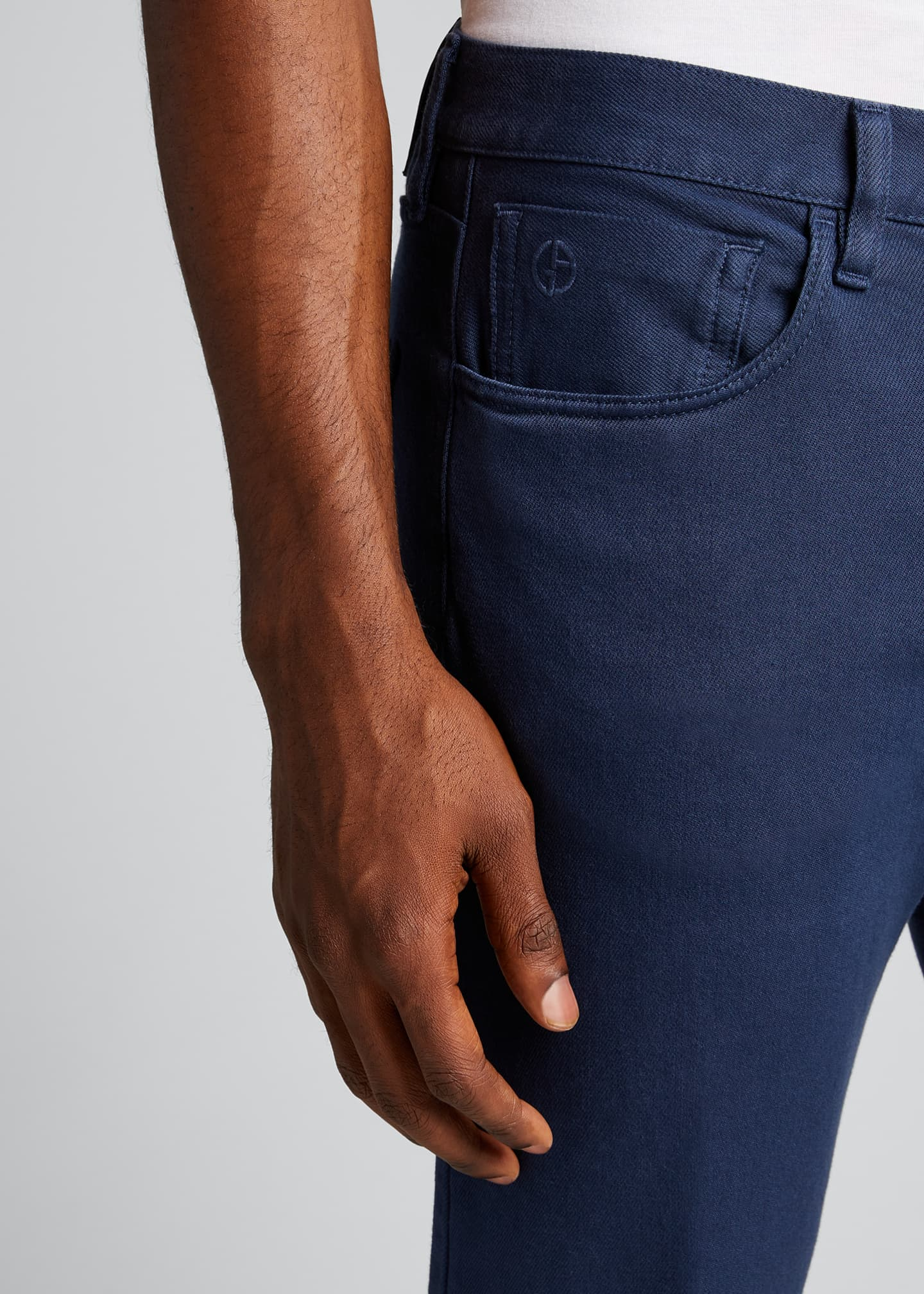 Image 4 of 5: Men's Relaxed Slim Five-Pocket Jeans