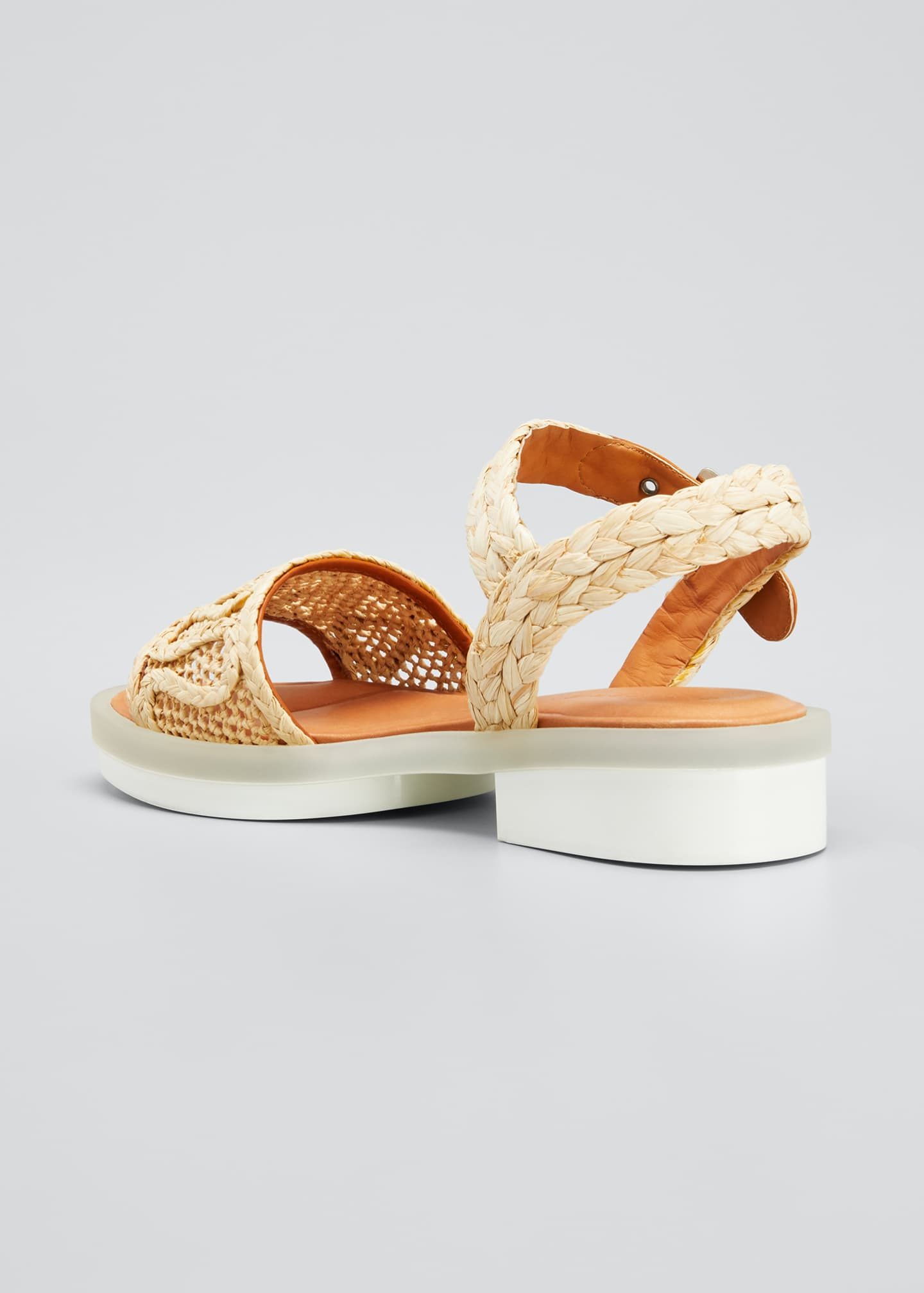 Image 2 of 3: Felepie 30mm Raffia Rubber Sandals