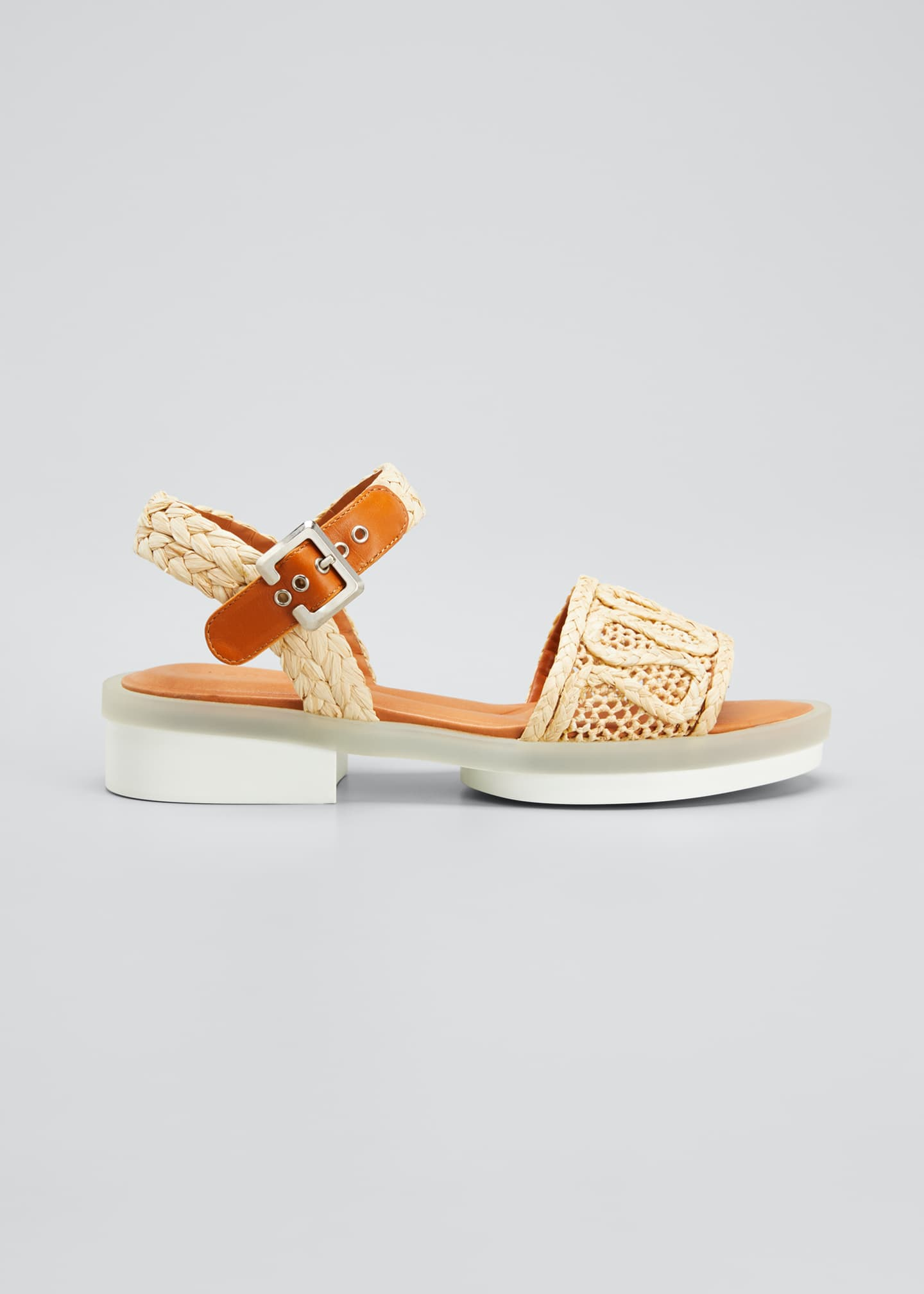Image 1 of 3: Felepie 30mm Raffia Rubber Sandals