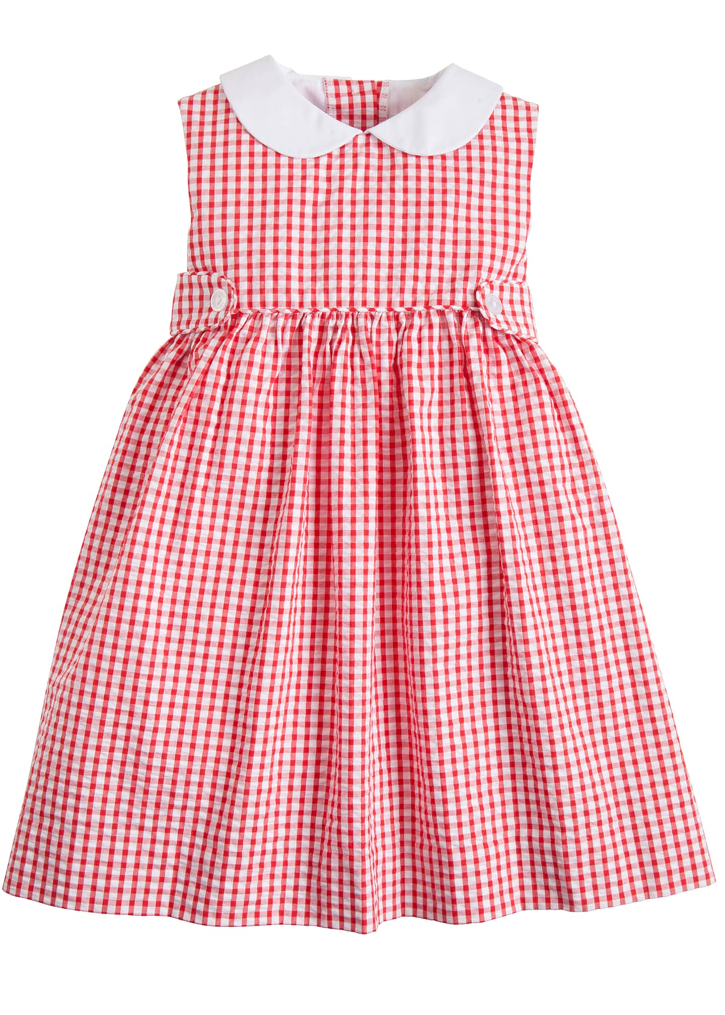 Image 1 of 1: Nantucket Gingham Button Tab Dress, Size 12M-4