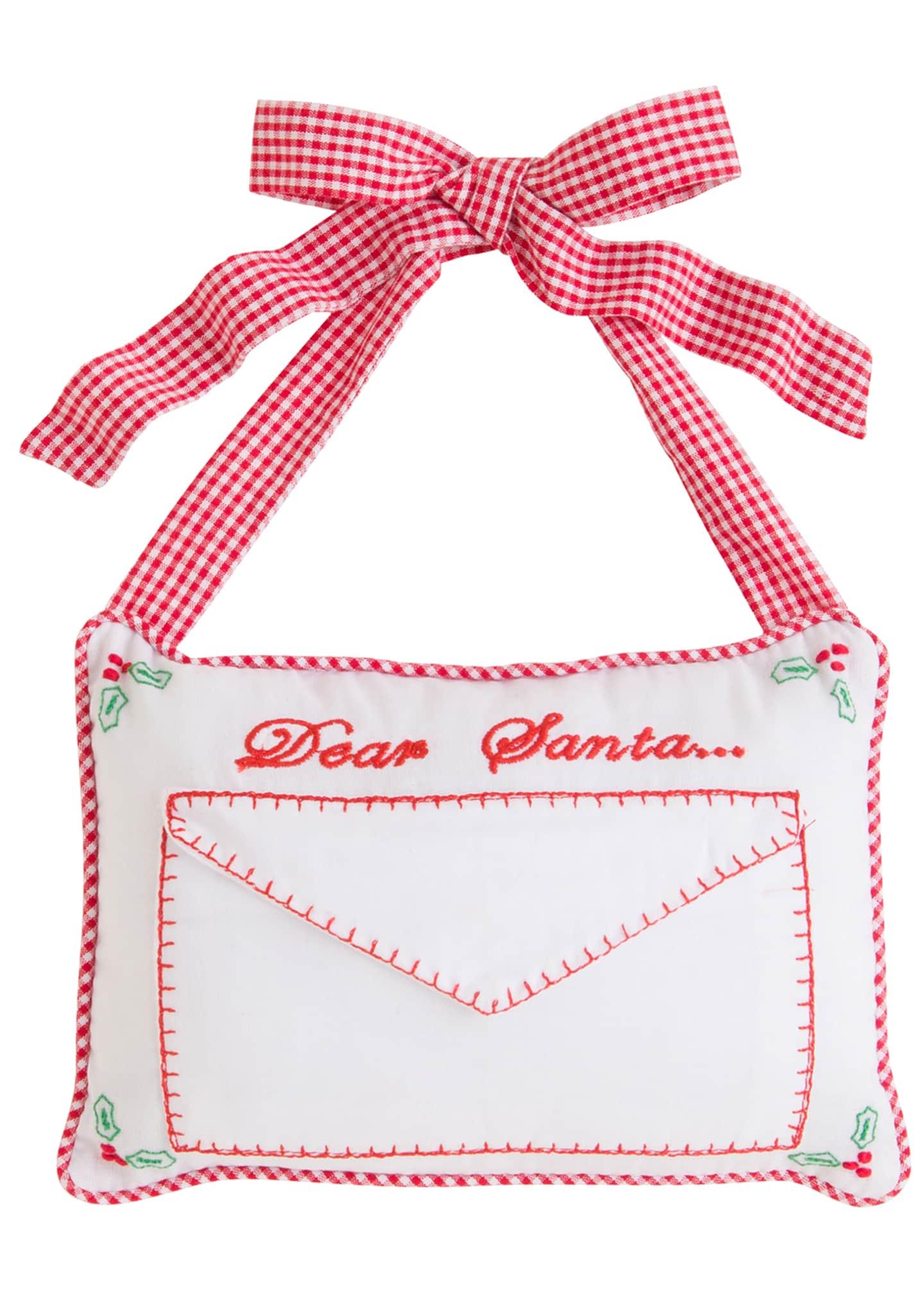 Little English Dear Santa Door Pillow