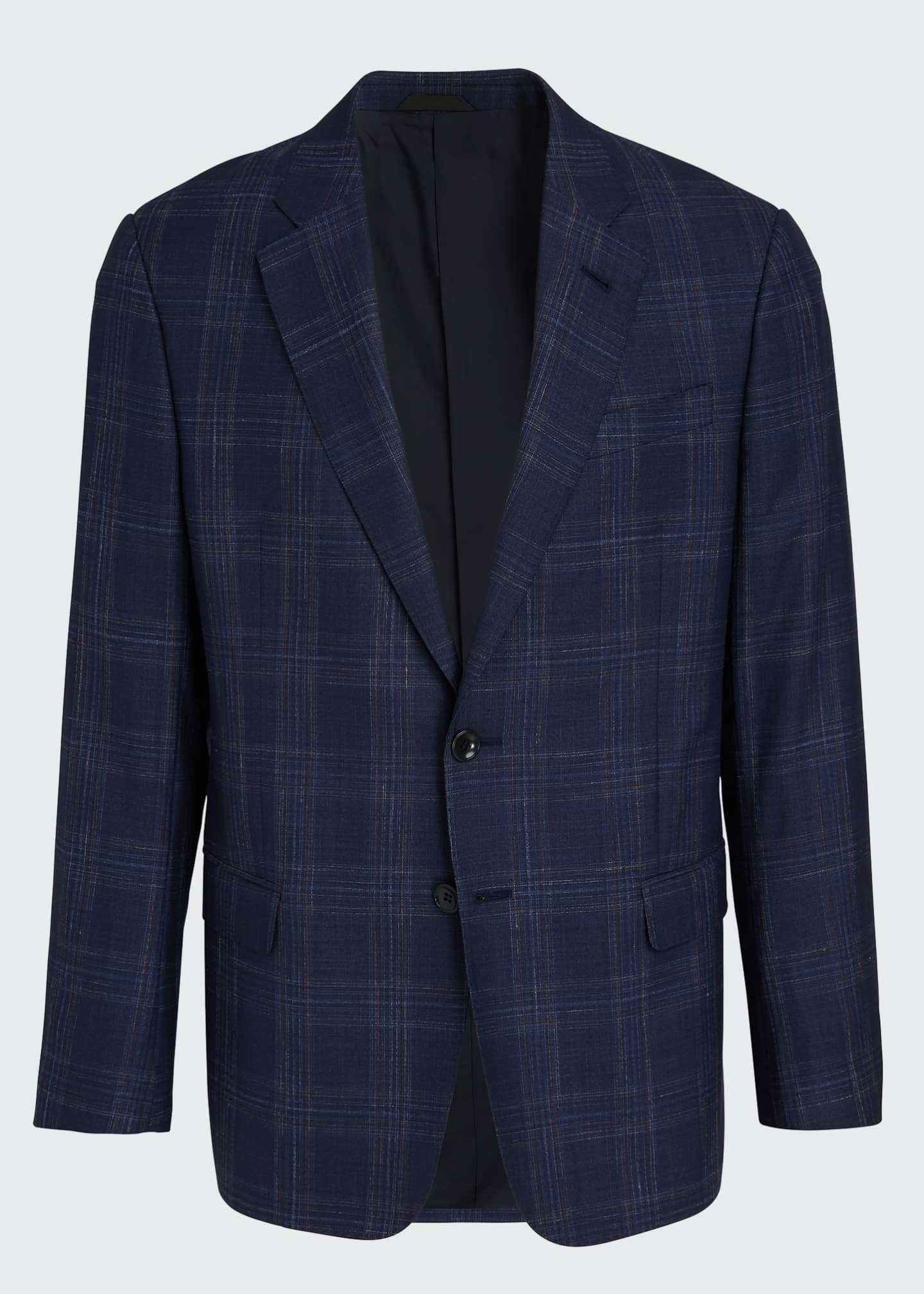 Image 5 of 5: Men's Plaid Wool Two-Button Jacket