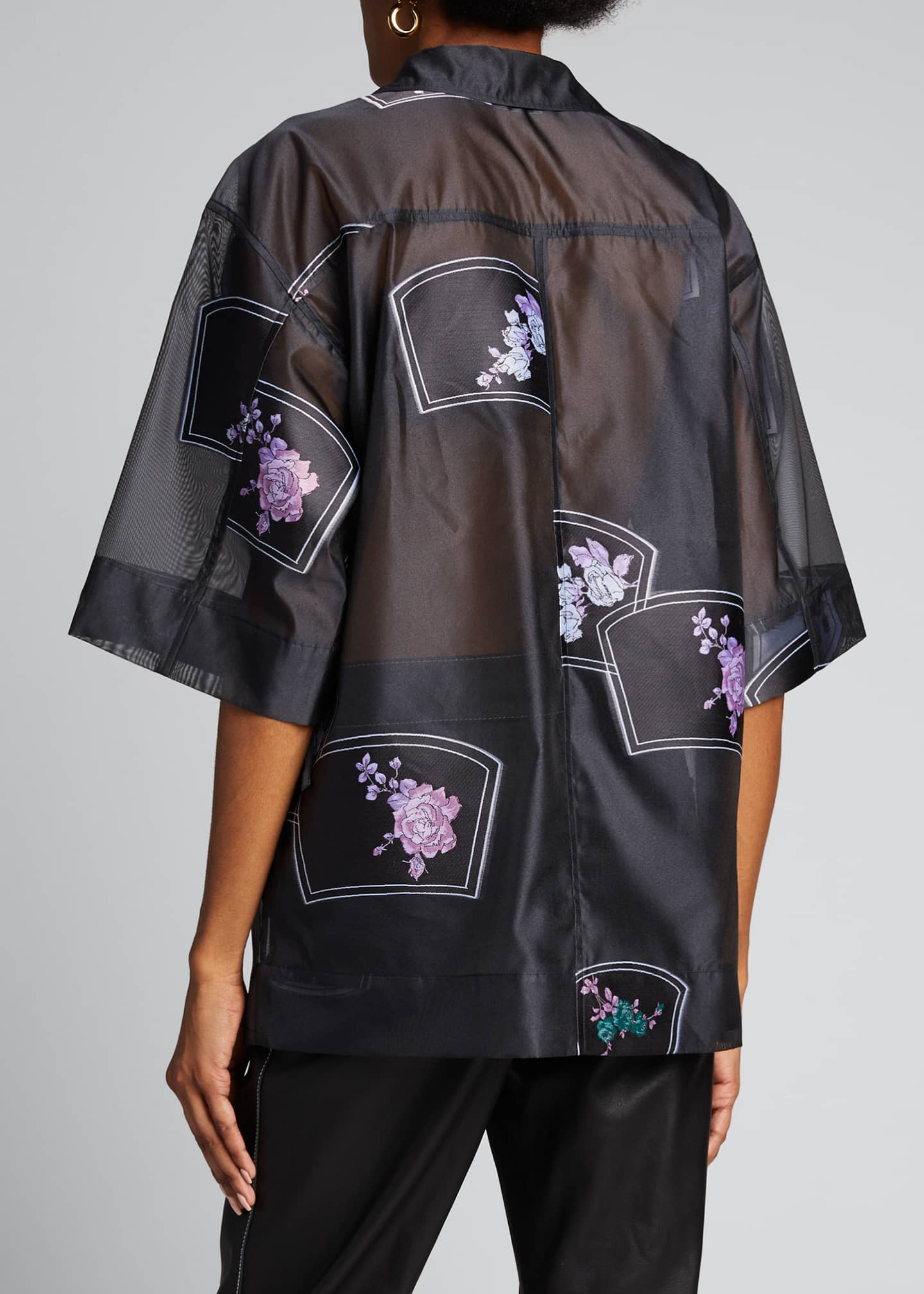 Image 2 of 5: Patch Organza Wrap Blouse