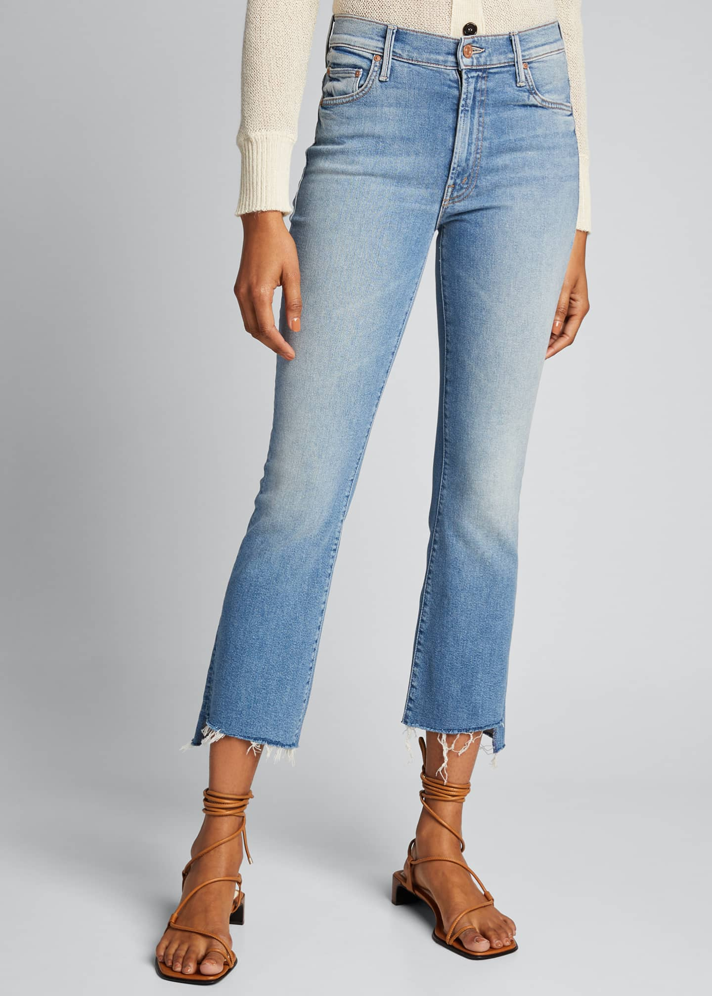 Image 3 of 5: Insider Cropped Step Fray Jeans