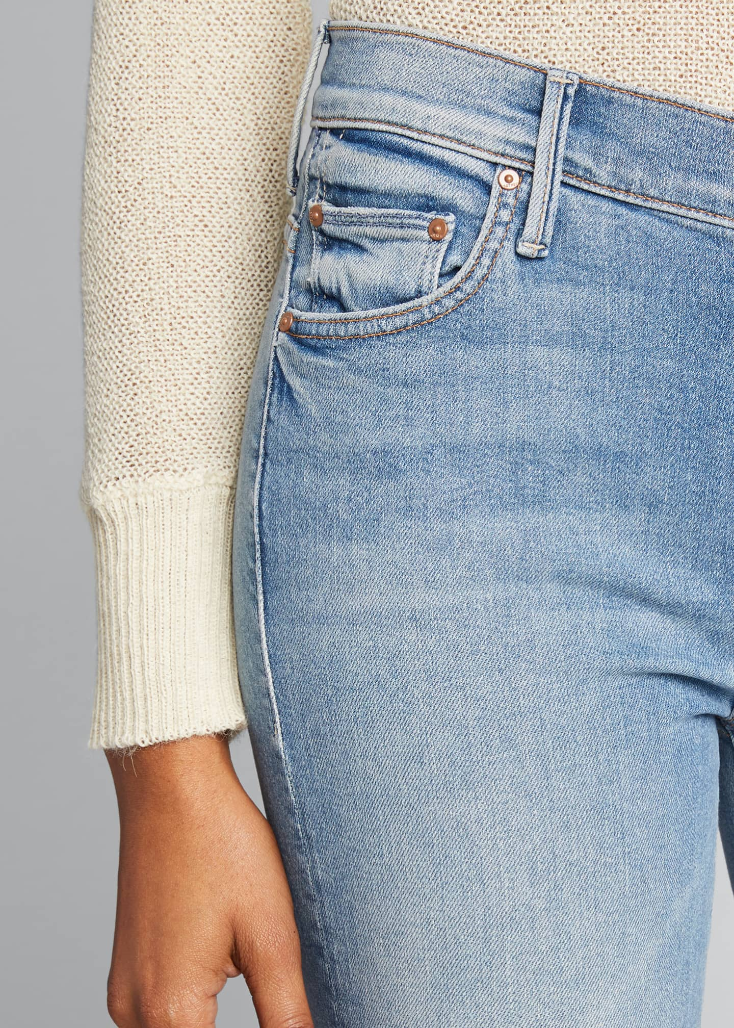 Image 4 of 5: Insider Cropped Step Fray Jeans